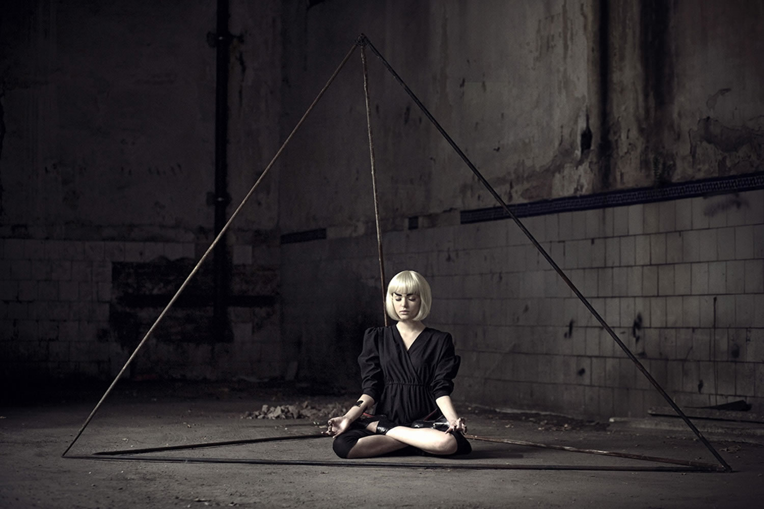 meditation, dark room, photography