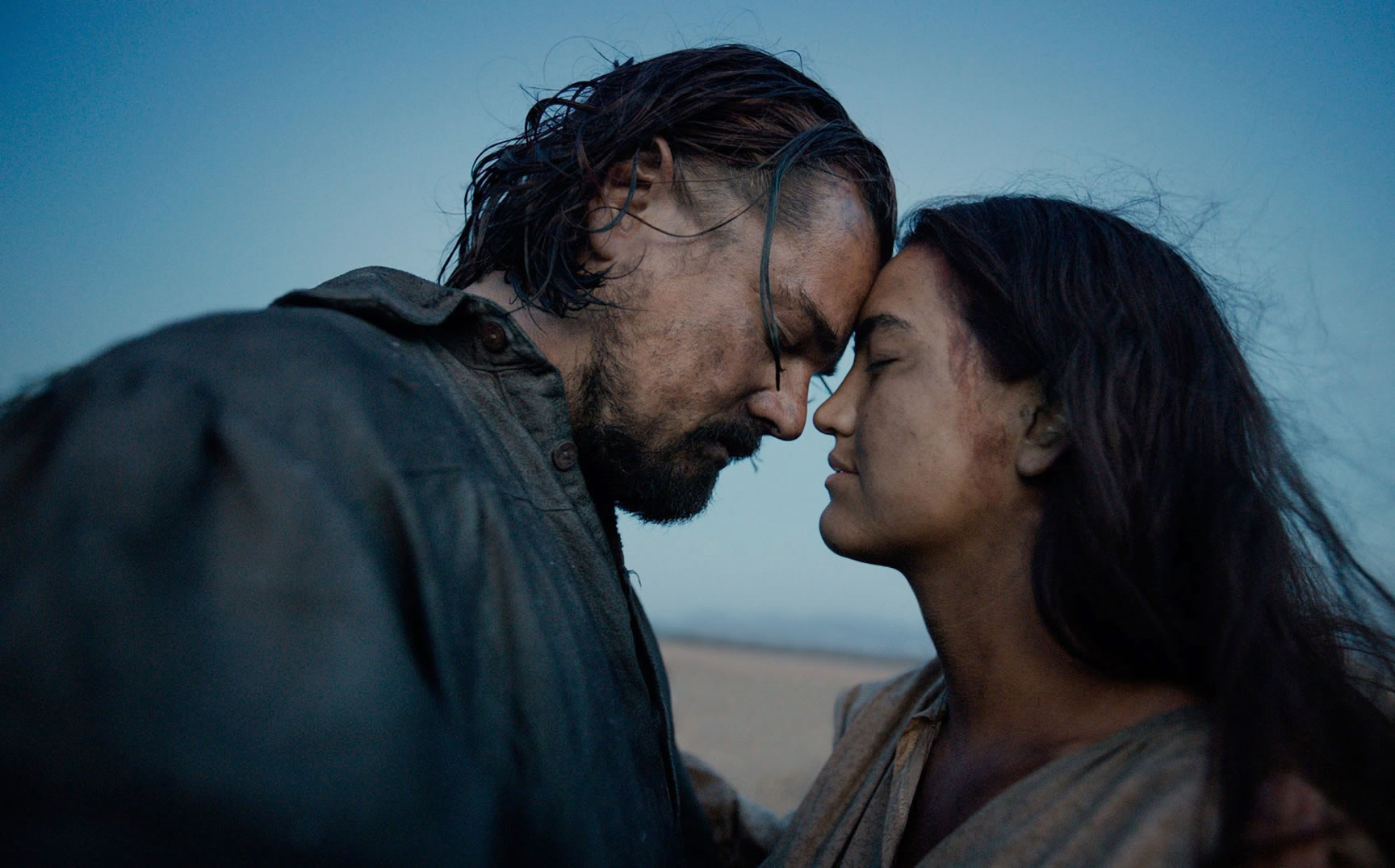 leonardo di caprio (and wife) in the revenant
