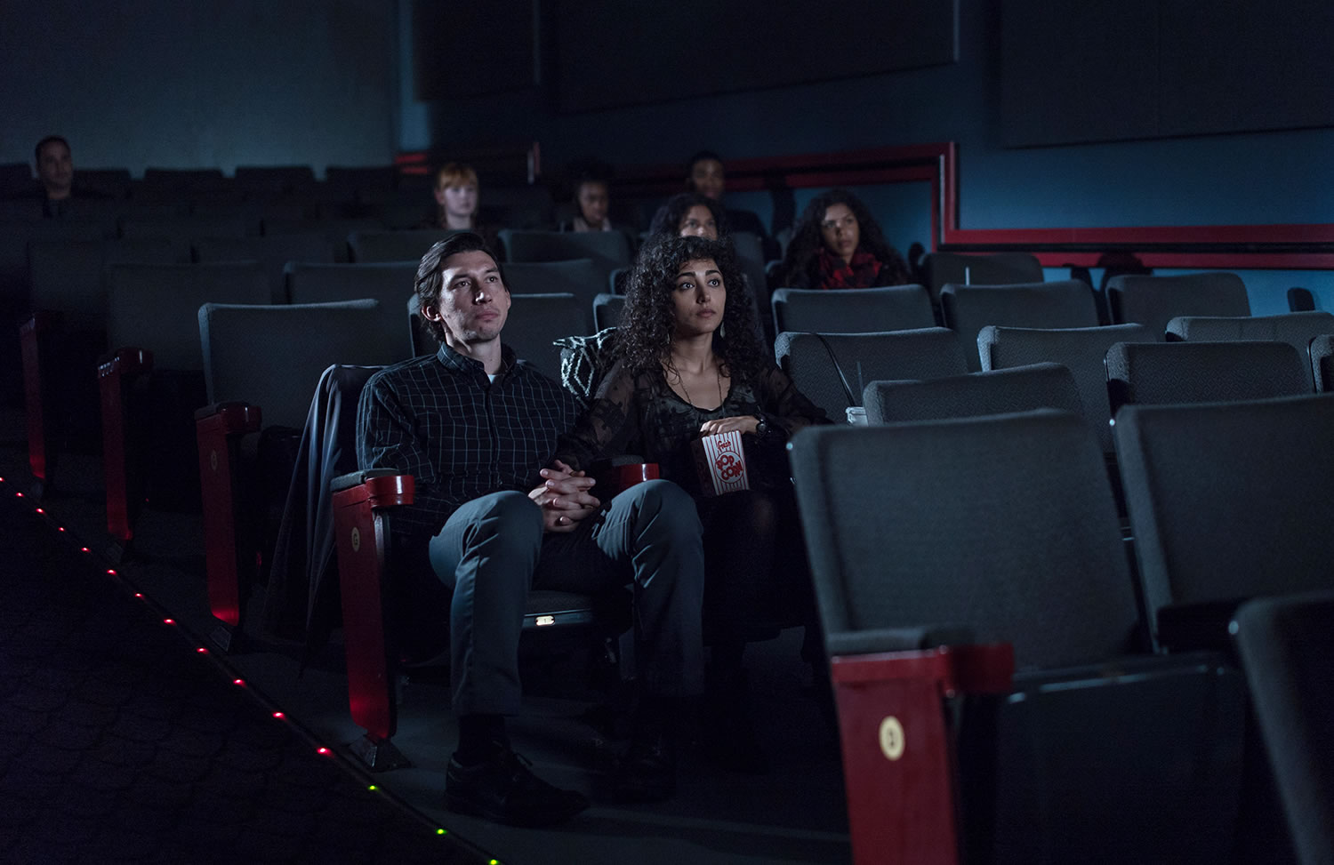 couple sitting in movie theather, paterson movie