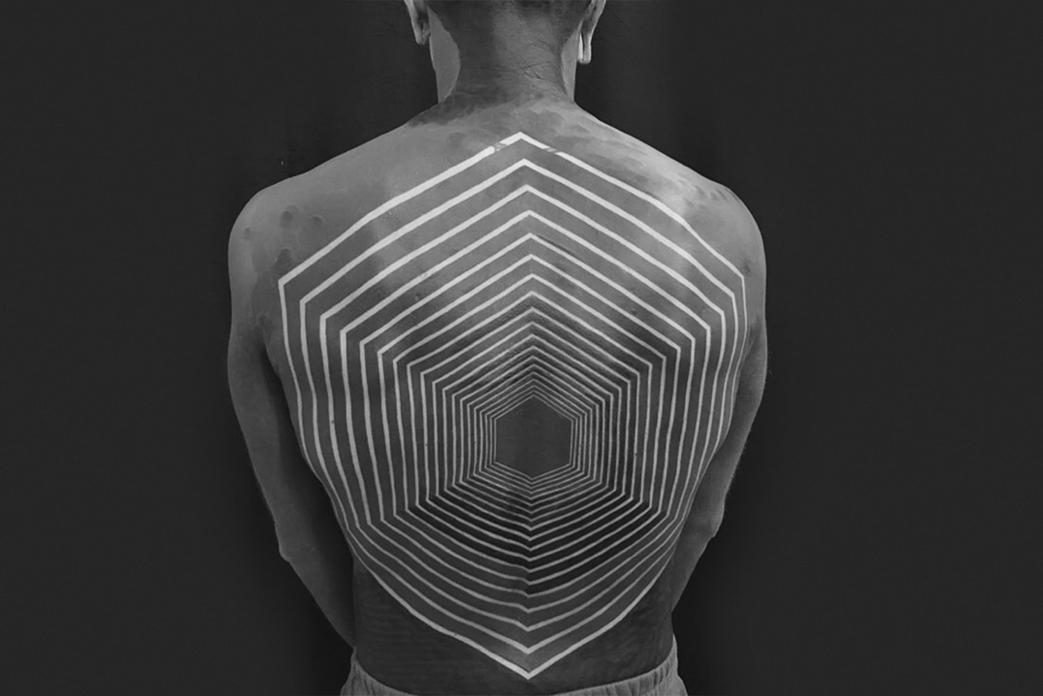 blackout, blackwork back piece by gerhard wiesbeck
