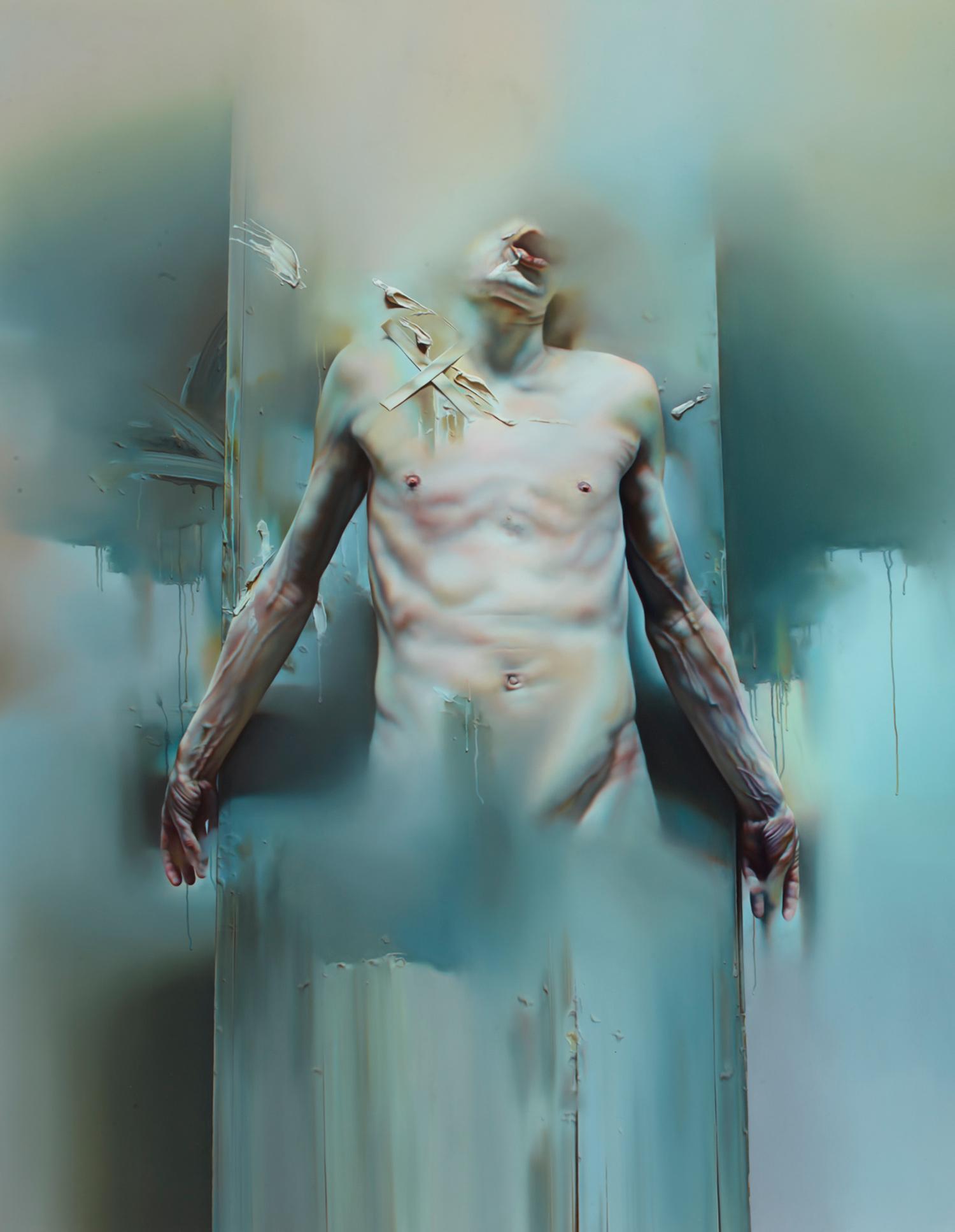 Istvan Sandorfi - painting, torso