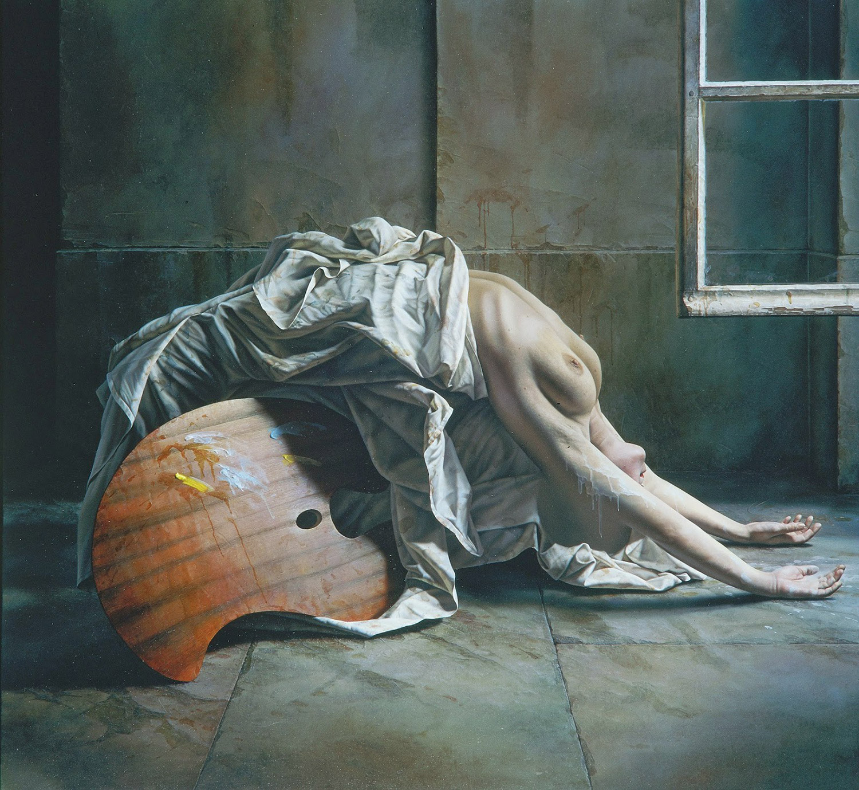 Istvan Sandorfi - painting, arched body
