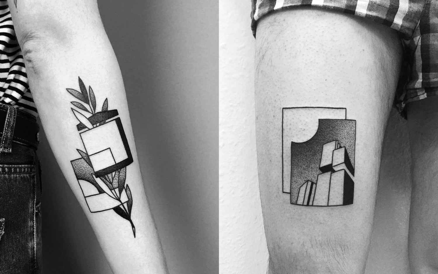 architecture-inspired abstract tattoos