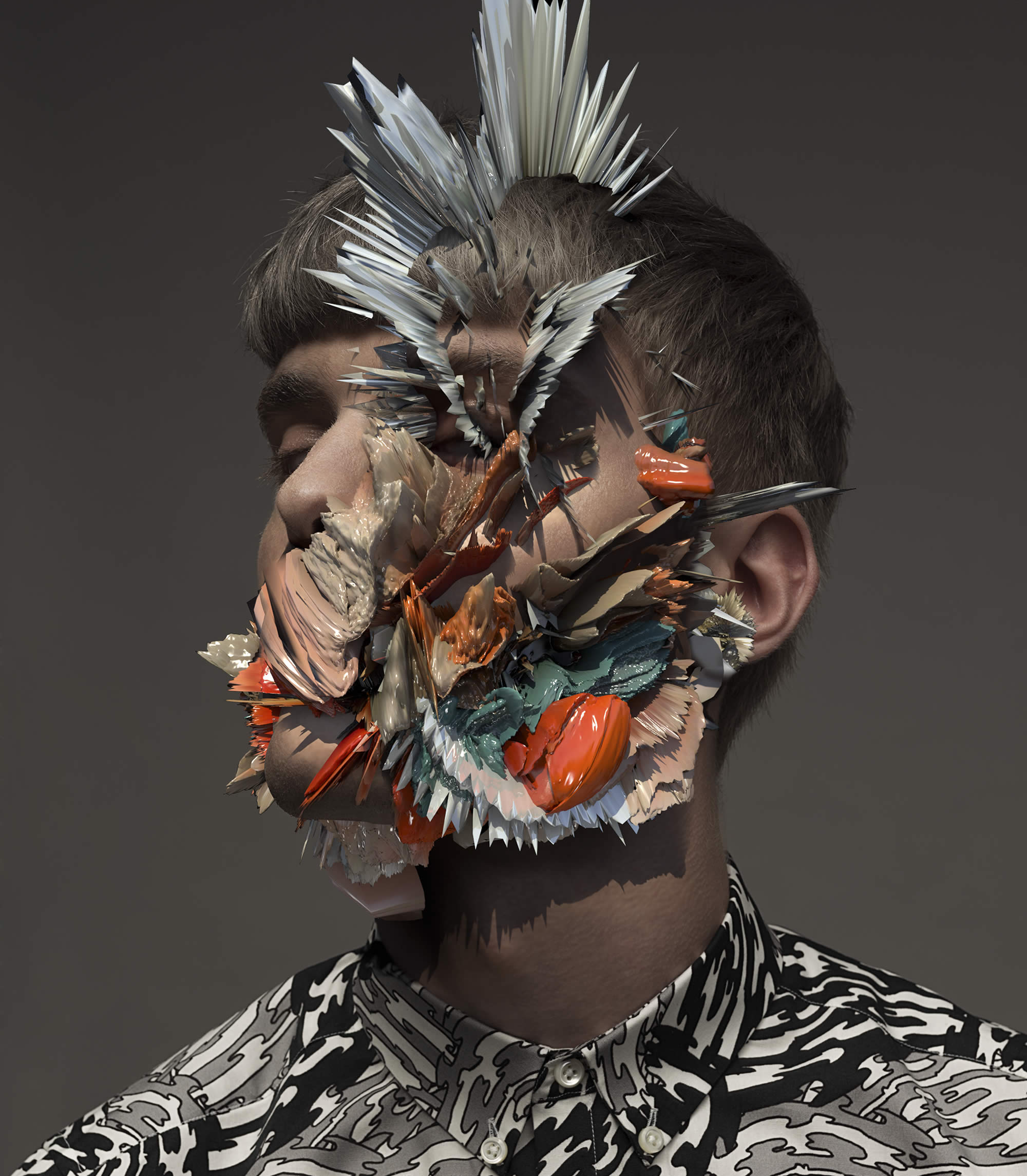 Exploding Faces & Glitchy Portraits: The Futuristic Work of Pandagunda