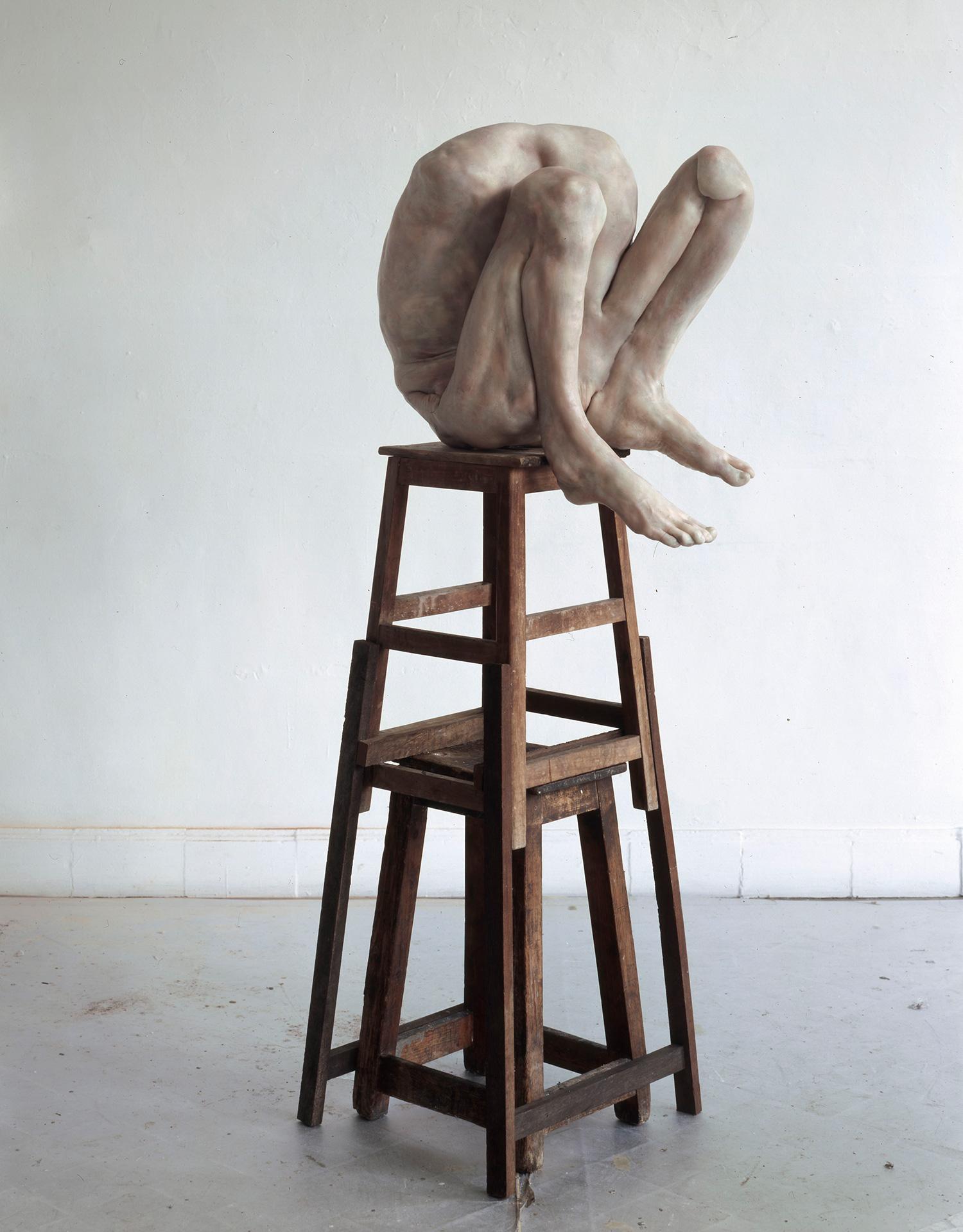 Berlinde de Bruyckere - torso and legs on stool