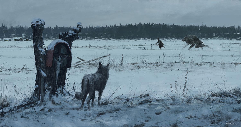 Jakub Rozalski - Werewolves, 1863