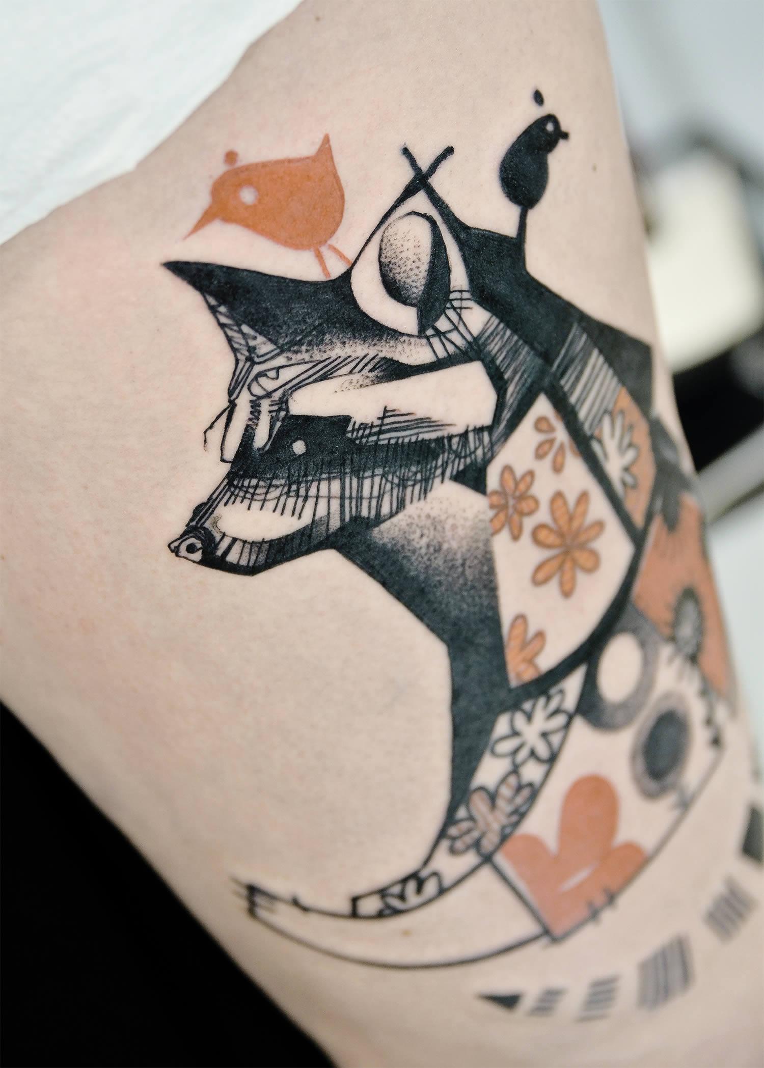 racoon tattoo