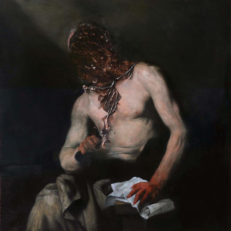 Nicola Samori - painting, Caton