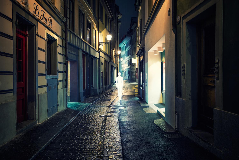 Severin Ettlin, HOMOLUX - illuminated body in street