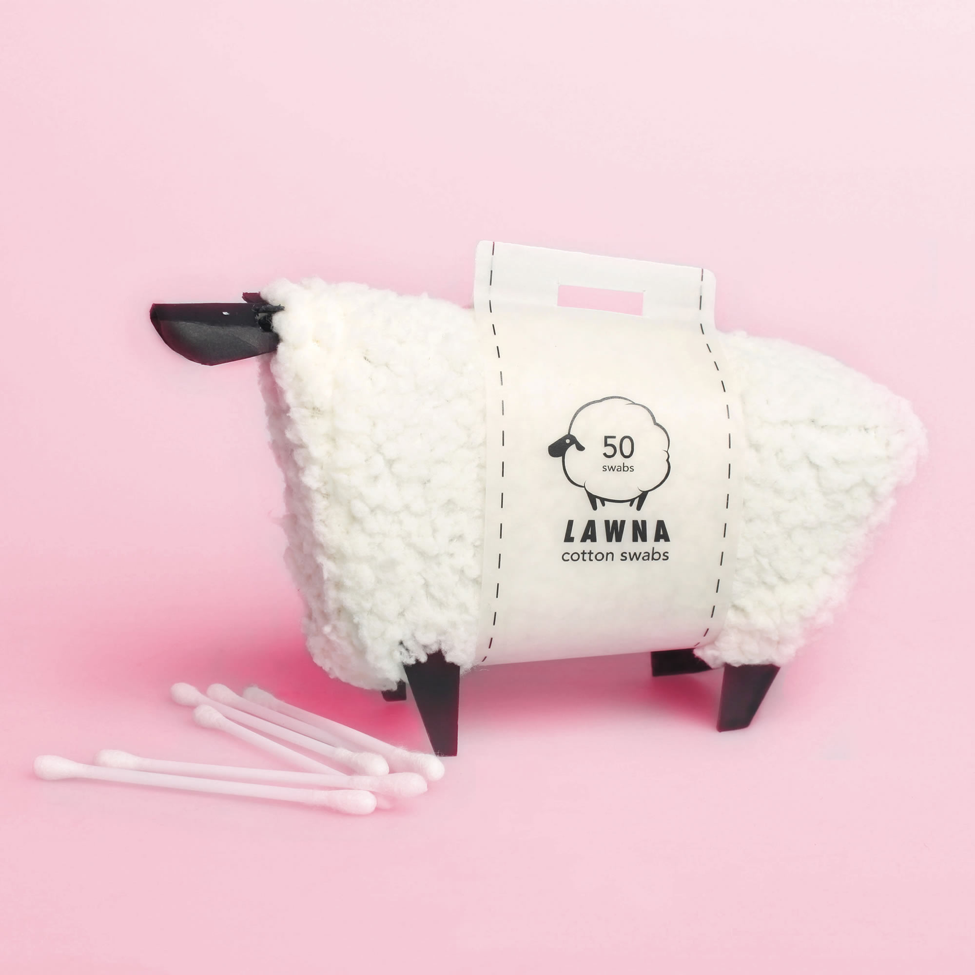 sheep dispensor with cotton swabs