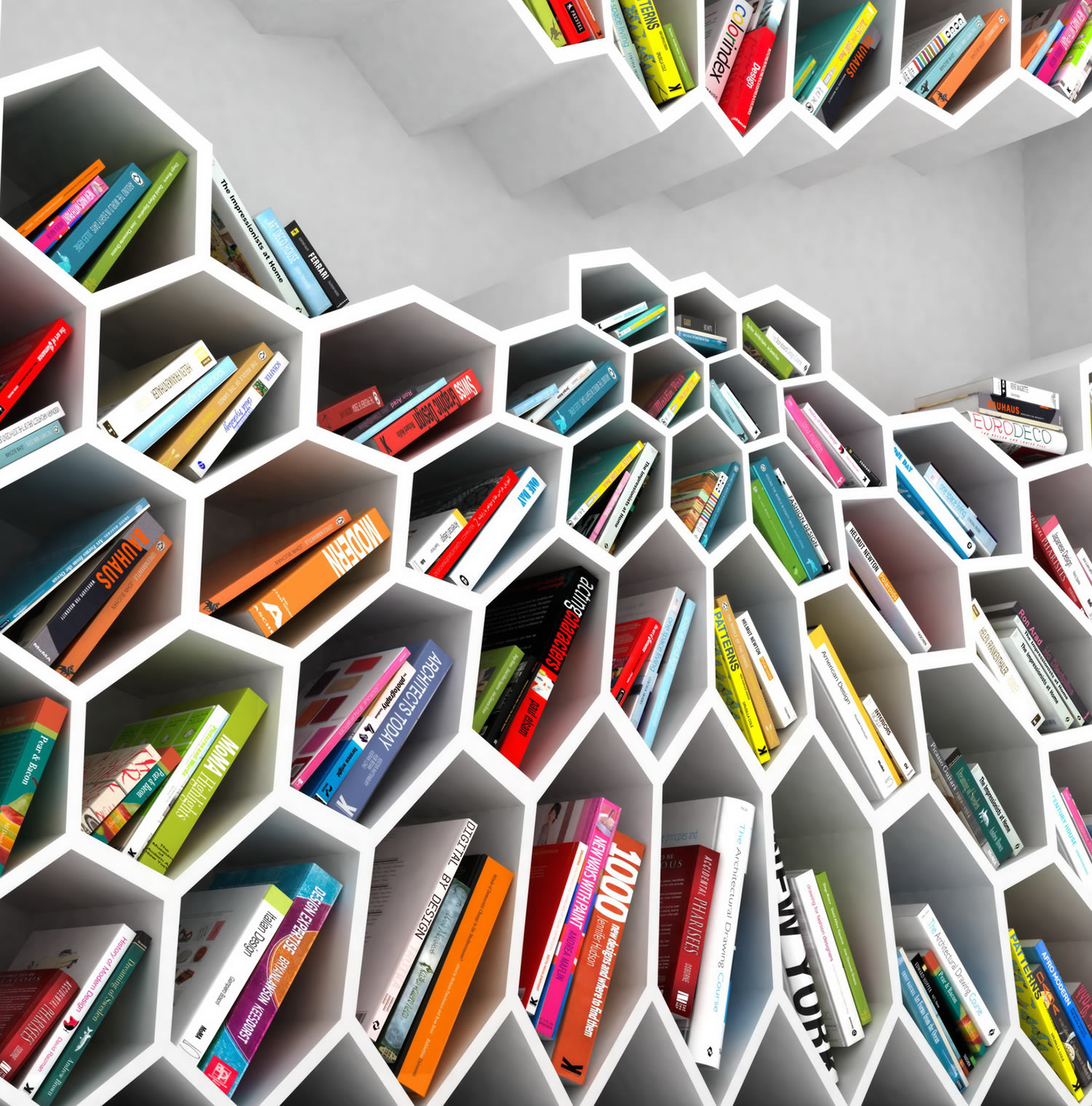 honeycomb bookshelf