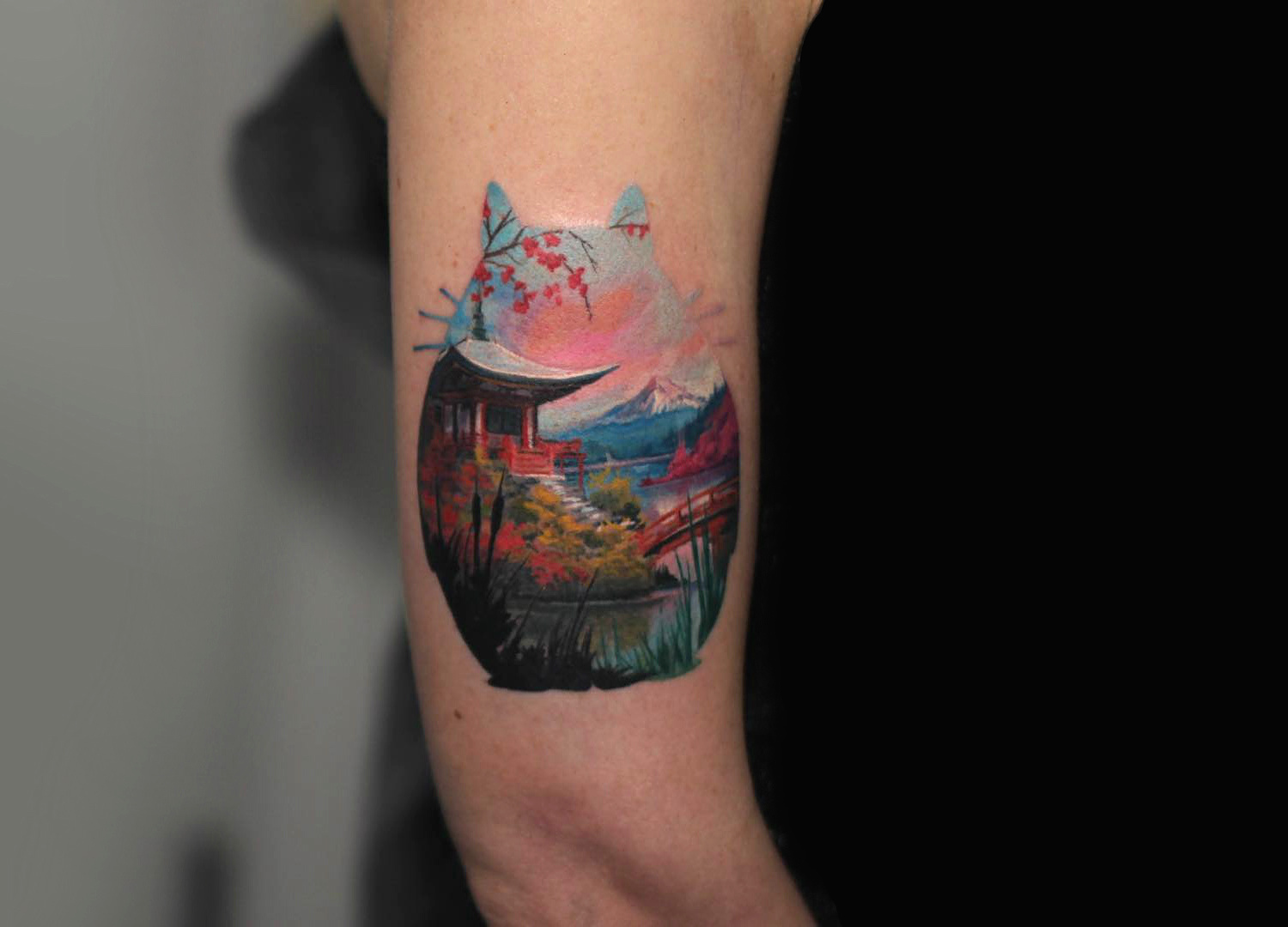 Totoro tattoo by NYC artist Royal Jafarov