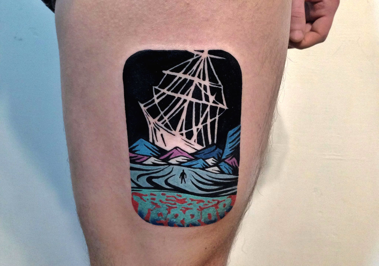 Dan Simmons inspired ship tattoo by Dusty Past