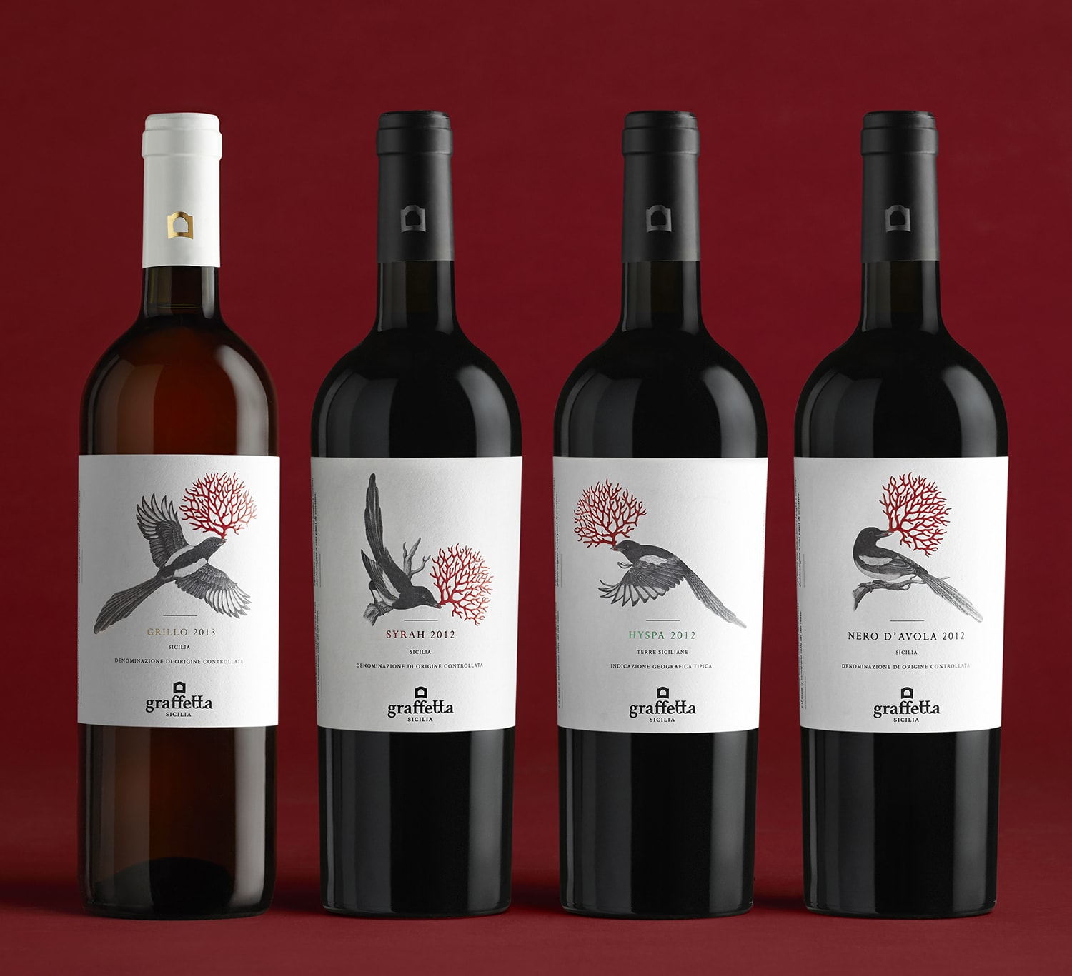 Graffetta Estate wines Logo, packaging identity by Giacomo Stefanelli - Barbara Cesura