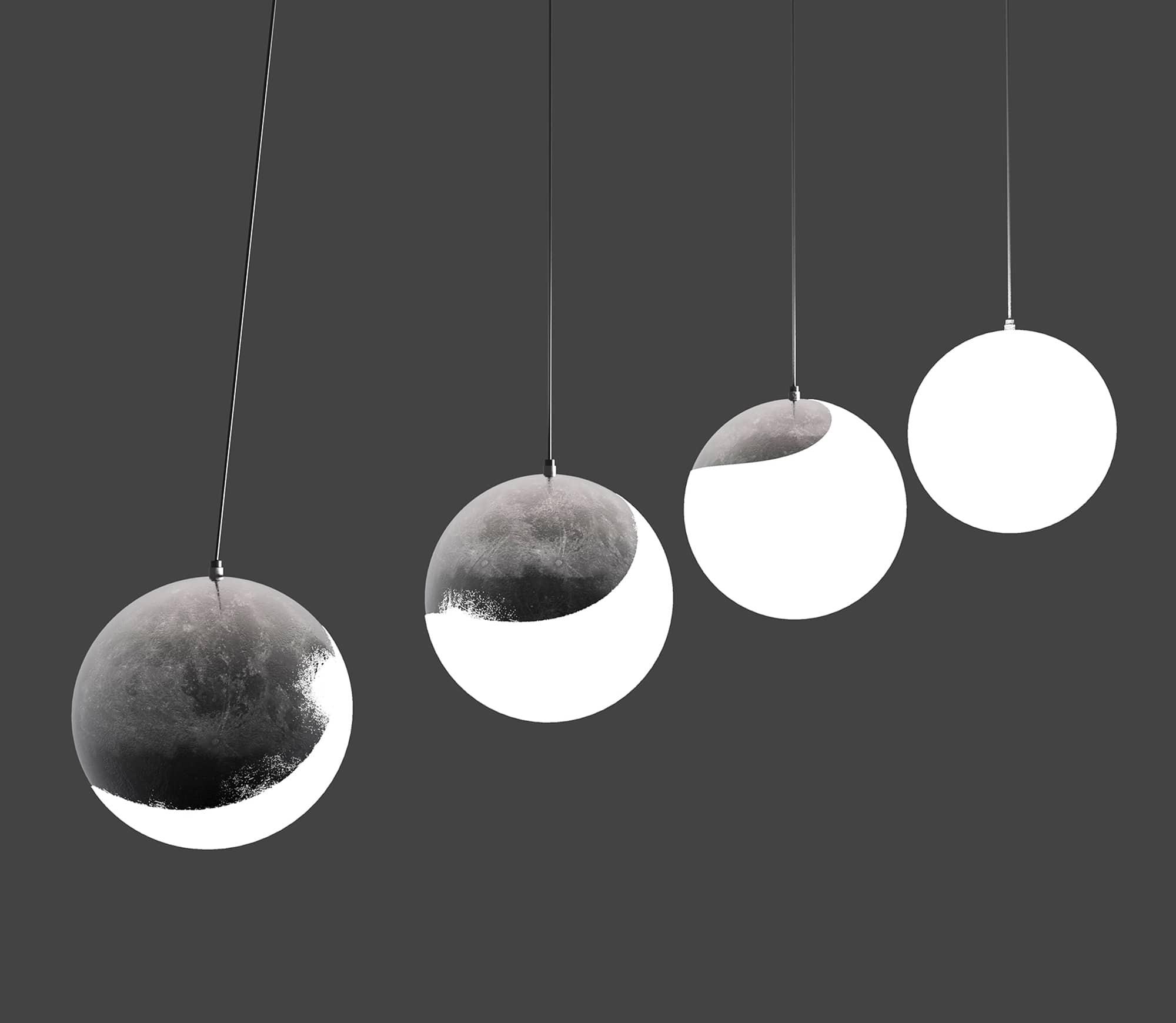 """Lunipse"" Lighting by Nima Bavardi, Soroush Vahidian Kamyar"