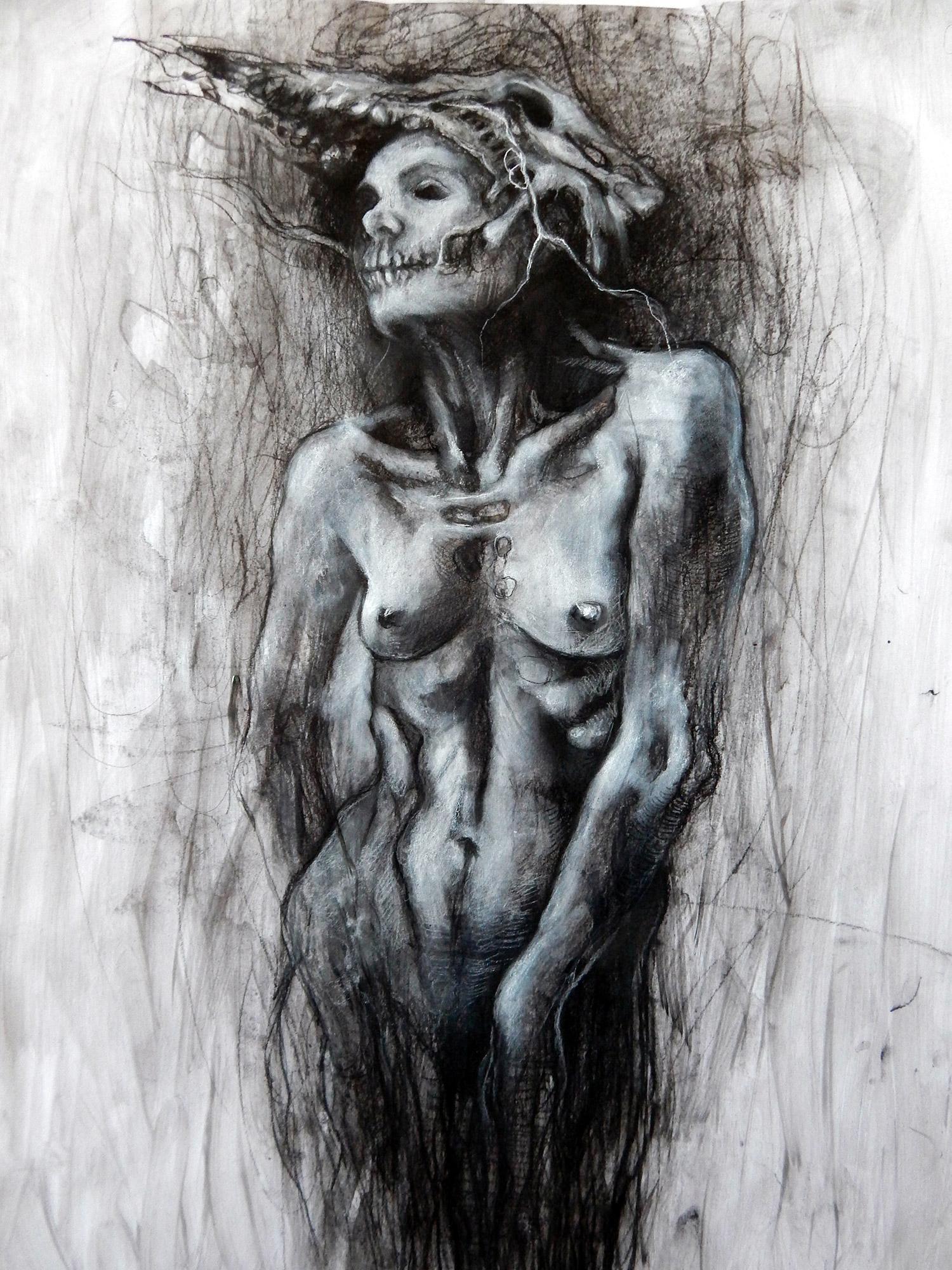 Aurore Lephilipponnat - woman wearing skull