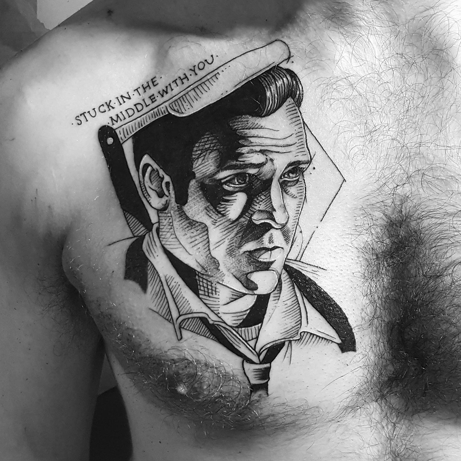 michael madsen portrait tattoo