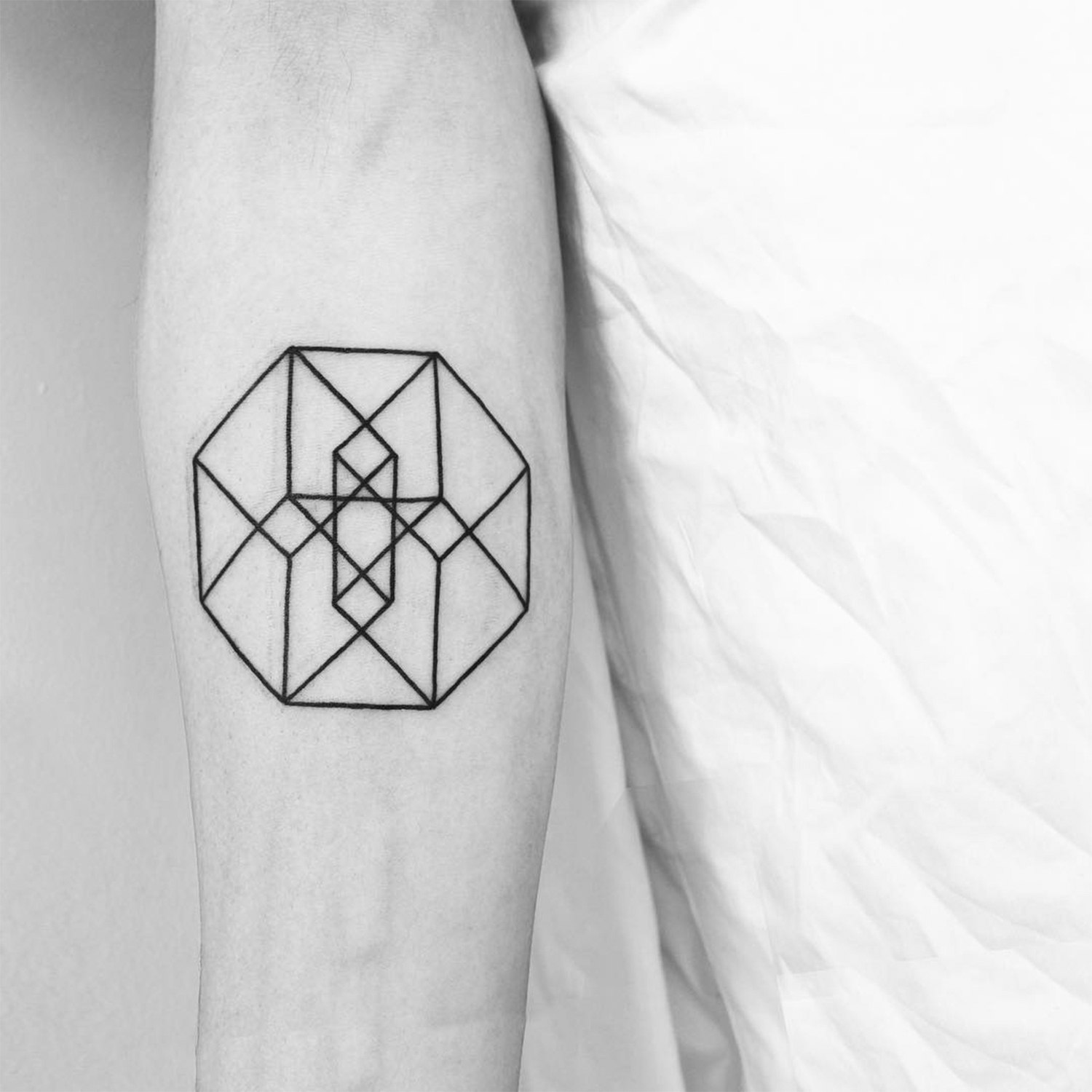 impossible shape, geometry tattoo