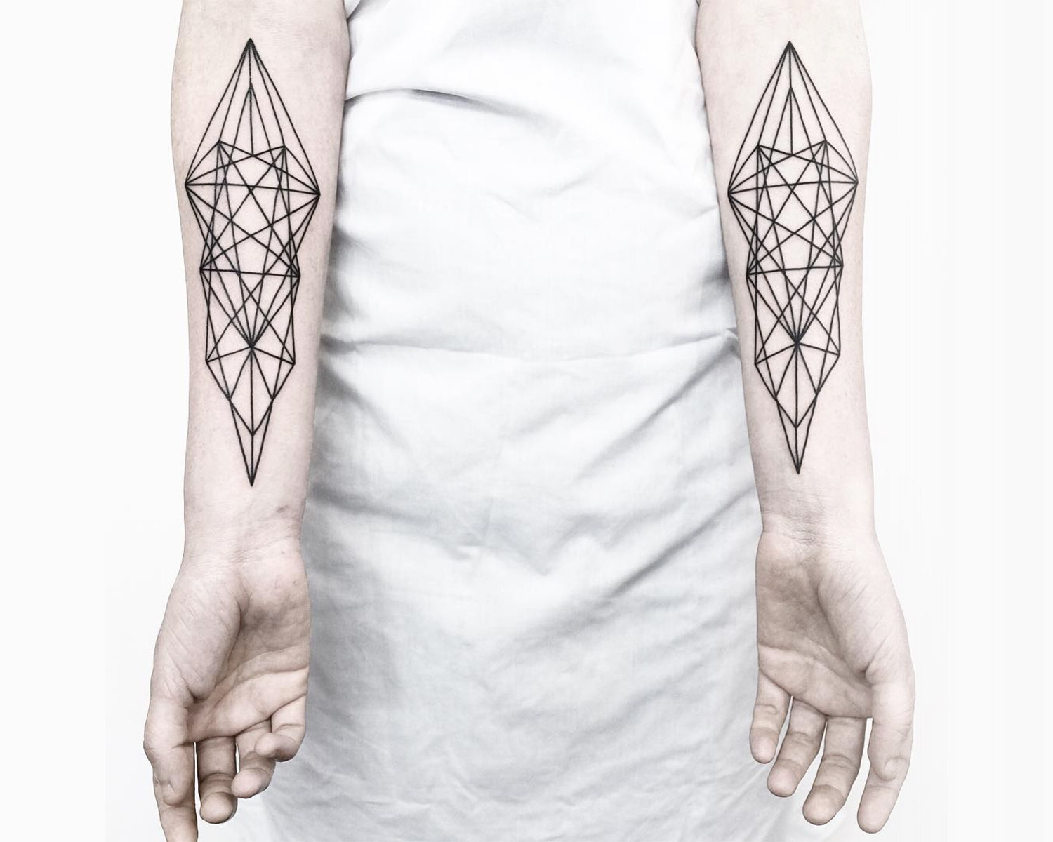geometric shapes on arms
