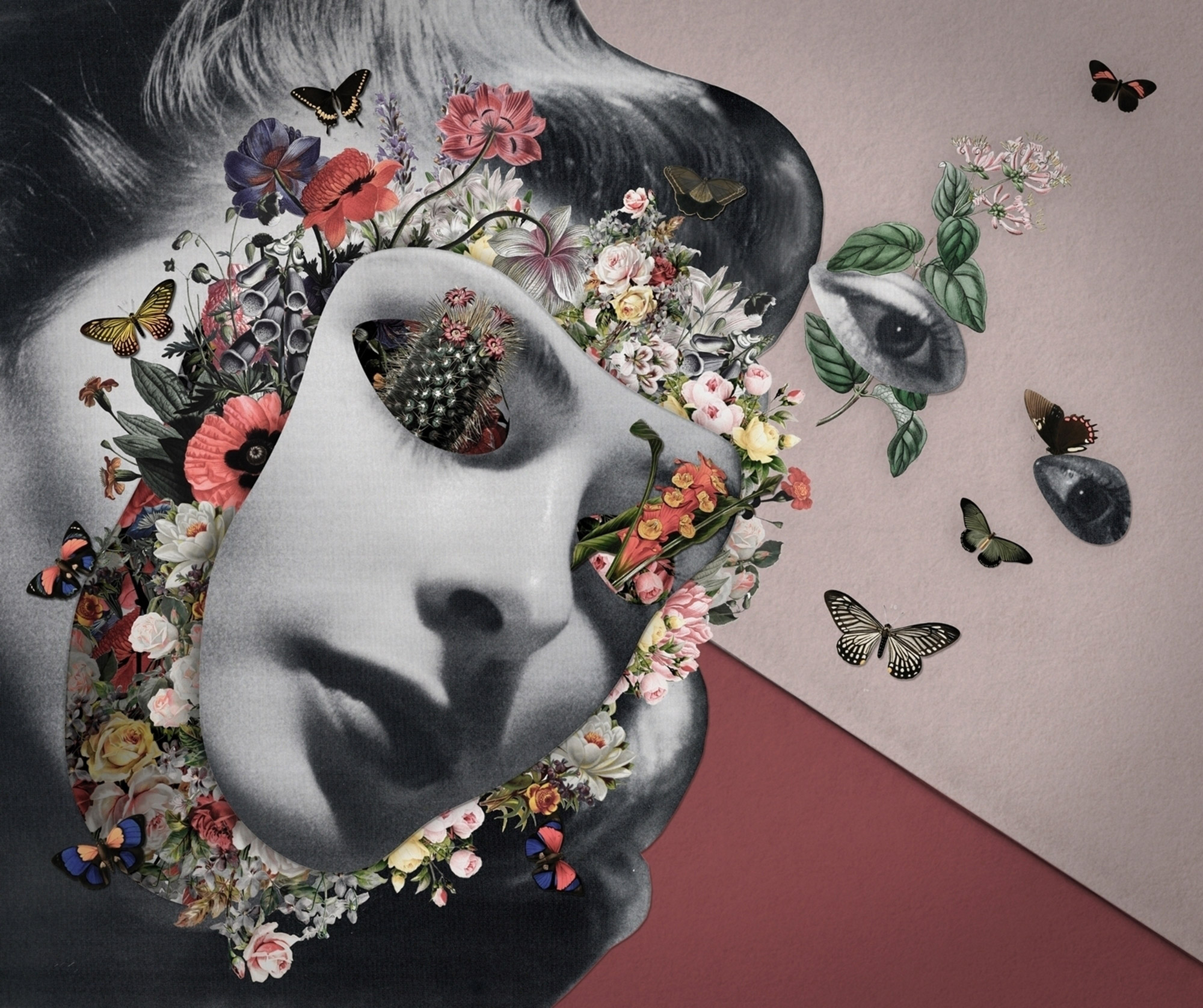 Playfully Complex Narratives in Collages by Sombra