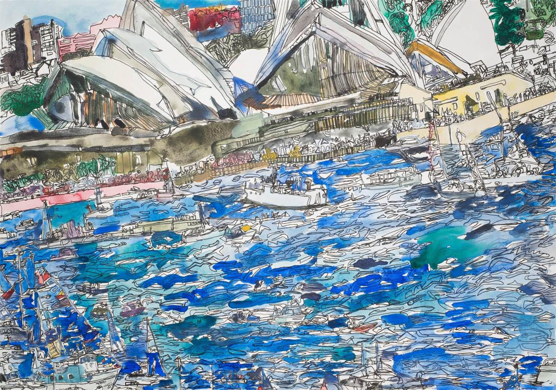 14007 Sydney Opera House, 2014 Ink on Paper, ping lian yeak