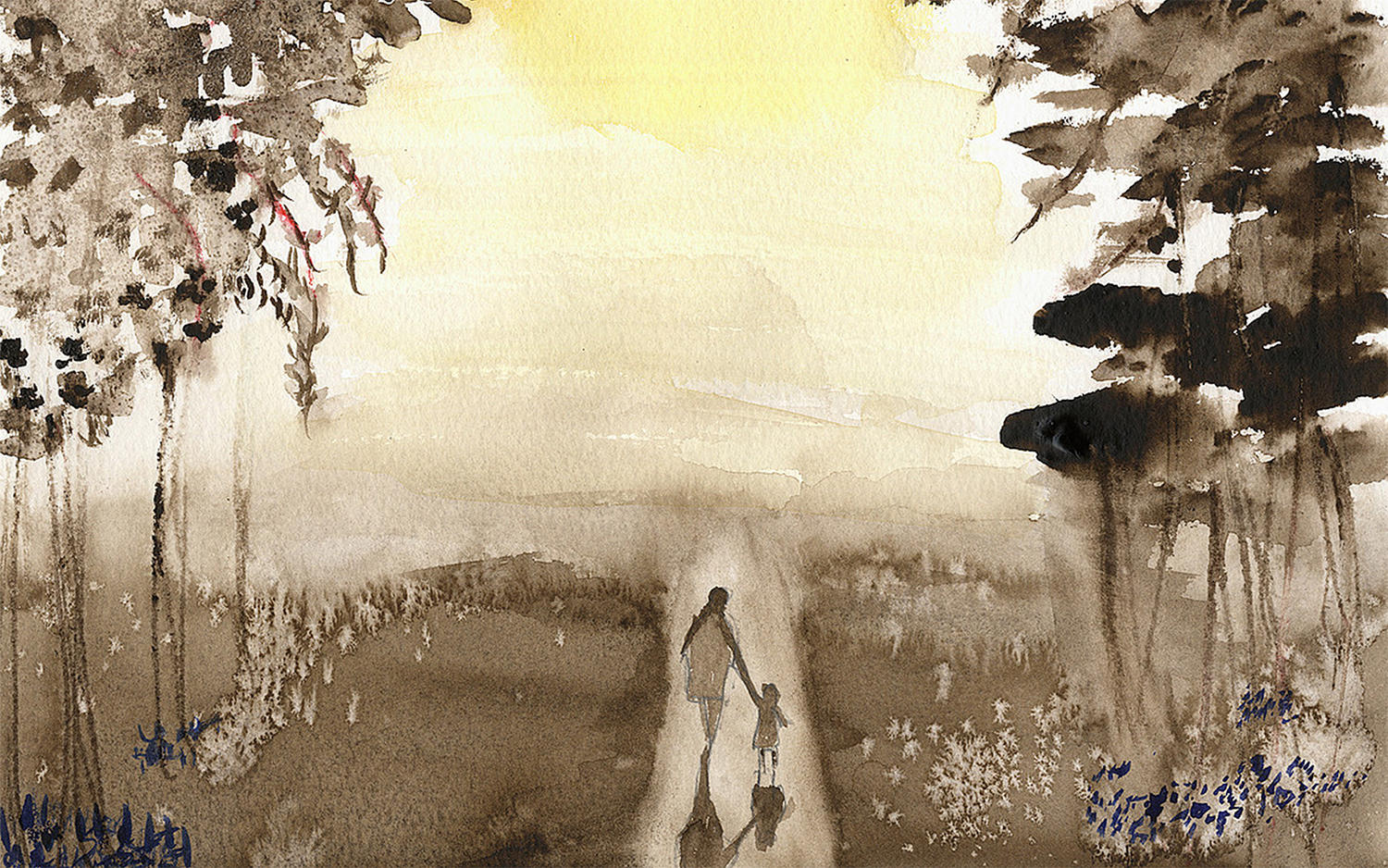 Walking with Angels by holly holder, painting, blind artist