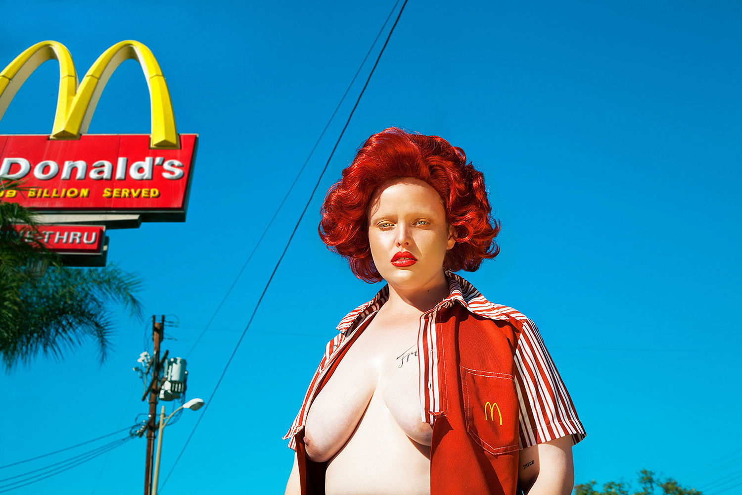 mcdonalds, photography, nude by Nadia Lee Cohen