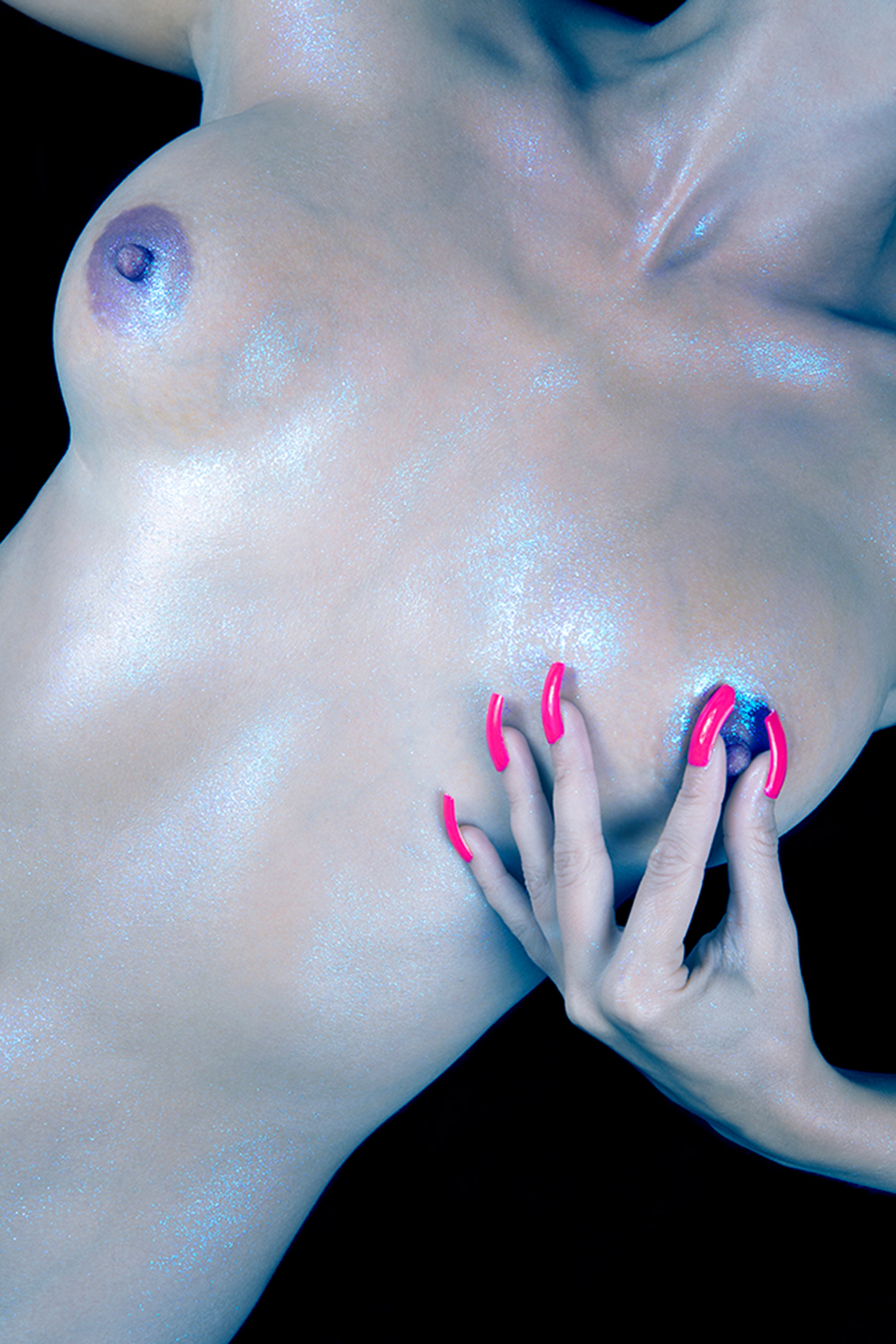 Erotic Photographers - Chloe Newman, nipple and pink nails
