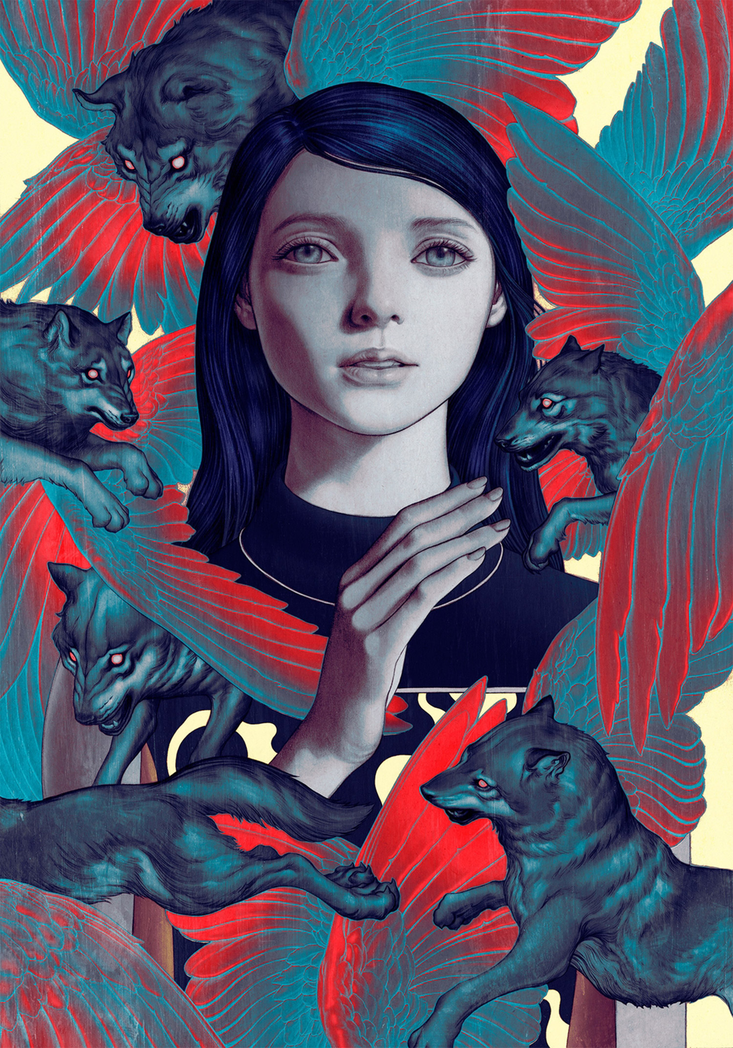 James Jean - Girl and Wolves