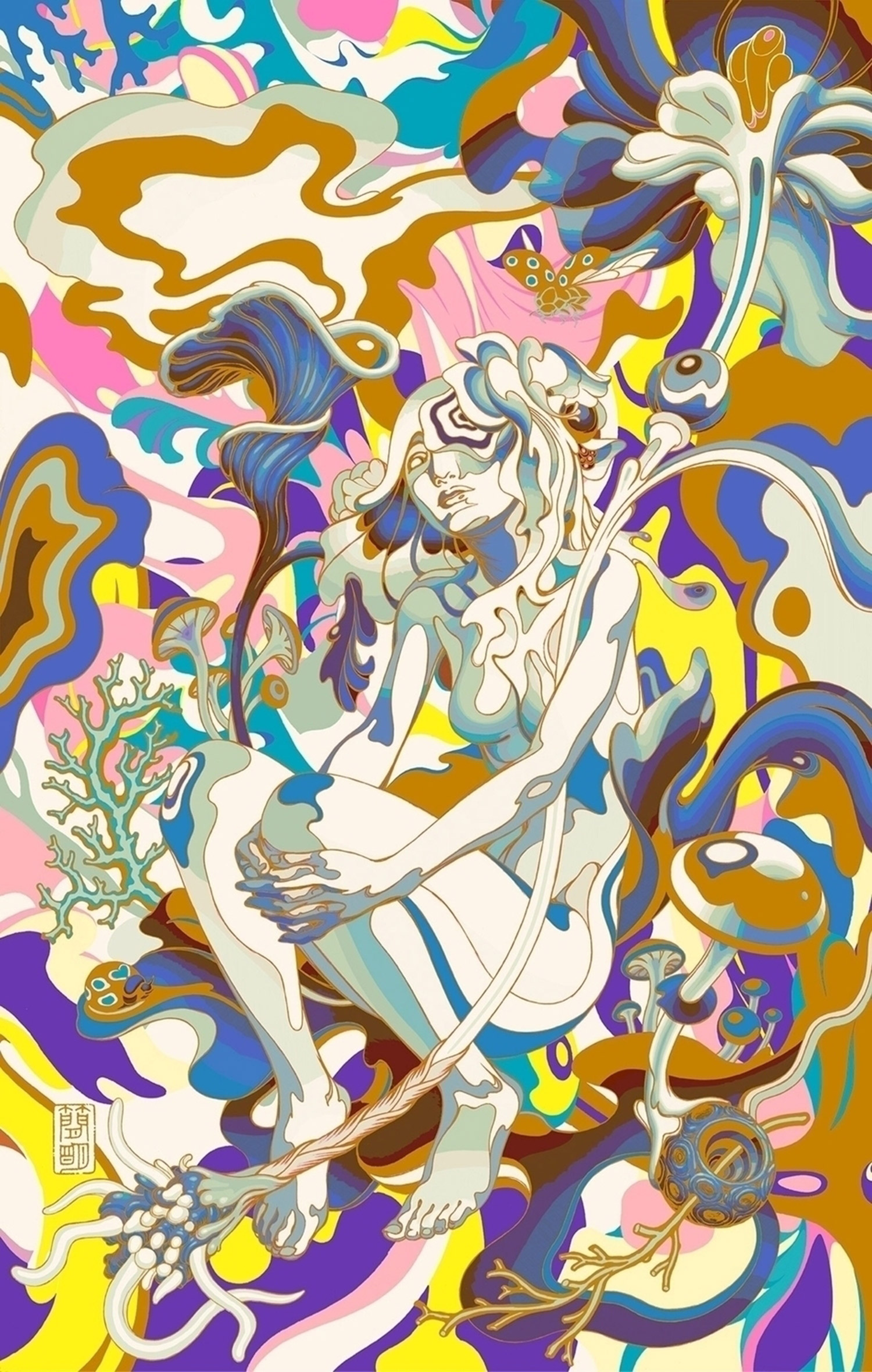 James Jean - Dolly Varden, color phase