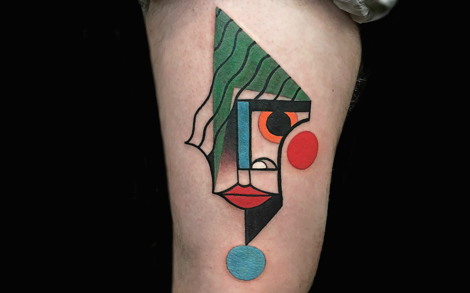 Mike Boyd geometric portrait tattoo