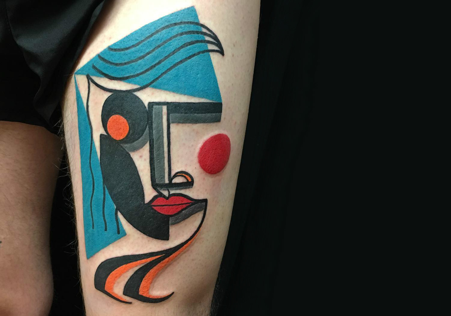 Modern art tattoo portrait by Mike Boyd