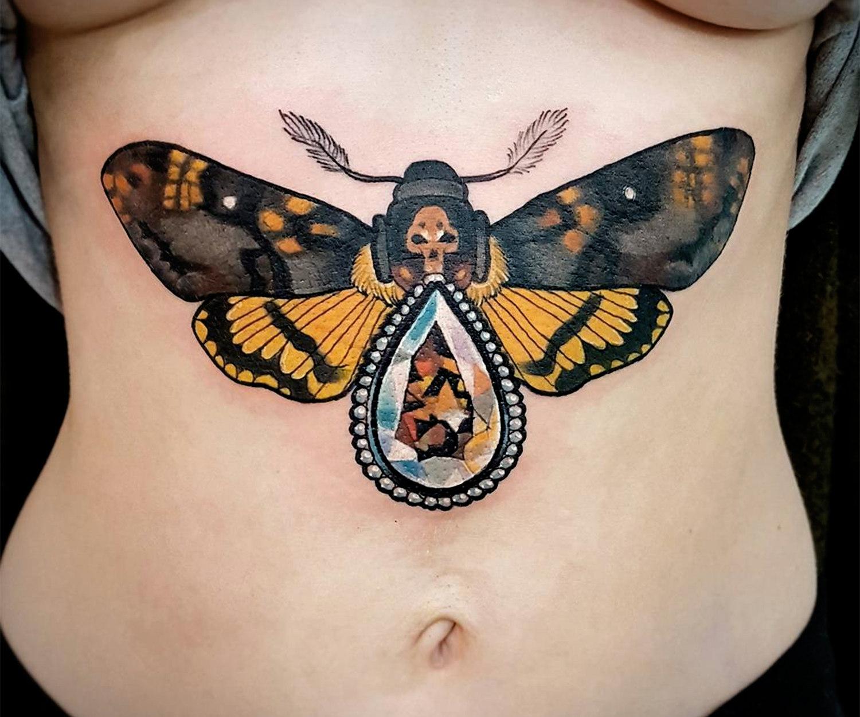 jewelry moth, death skull, by Nastia Zlotin