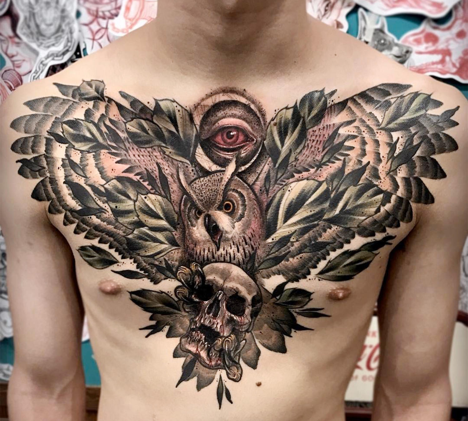 Chest tattooo by varo