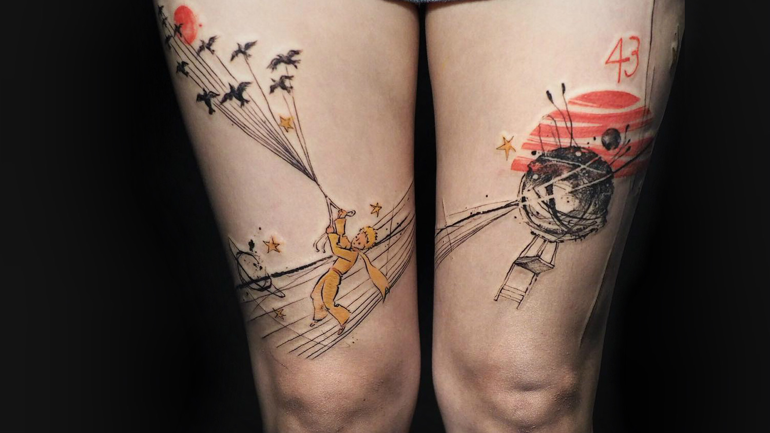 The Little Prince artwork by Nadi Tattooer