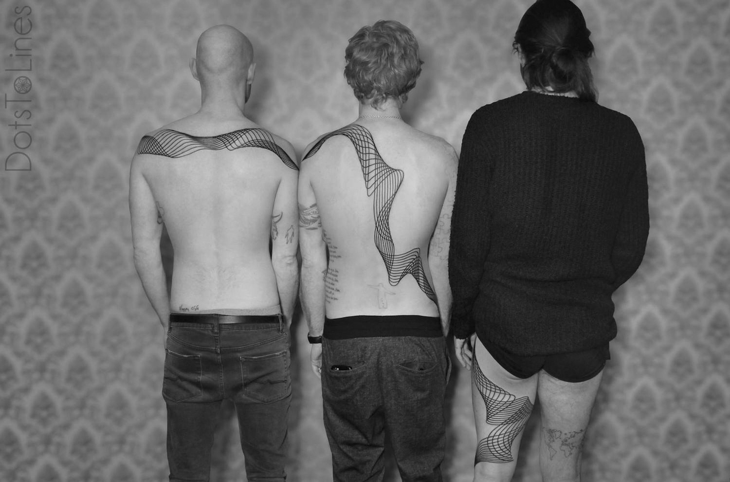 Line tattoos for Biffy Clyro by DotsToLines