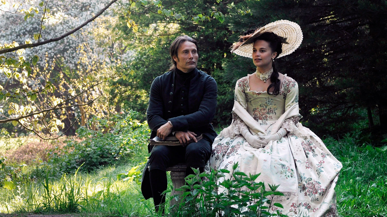 Erotic Foreign Films - A Royal Affair, in the garden