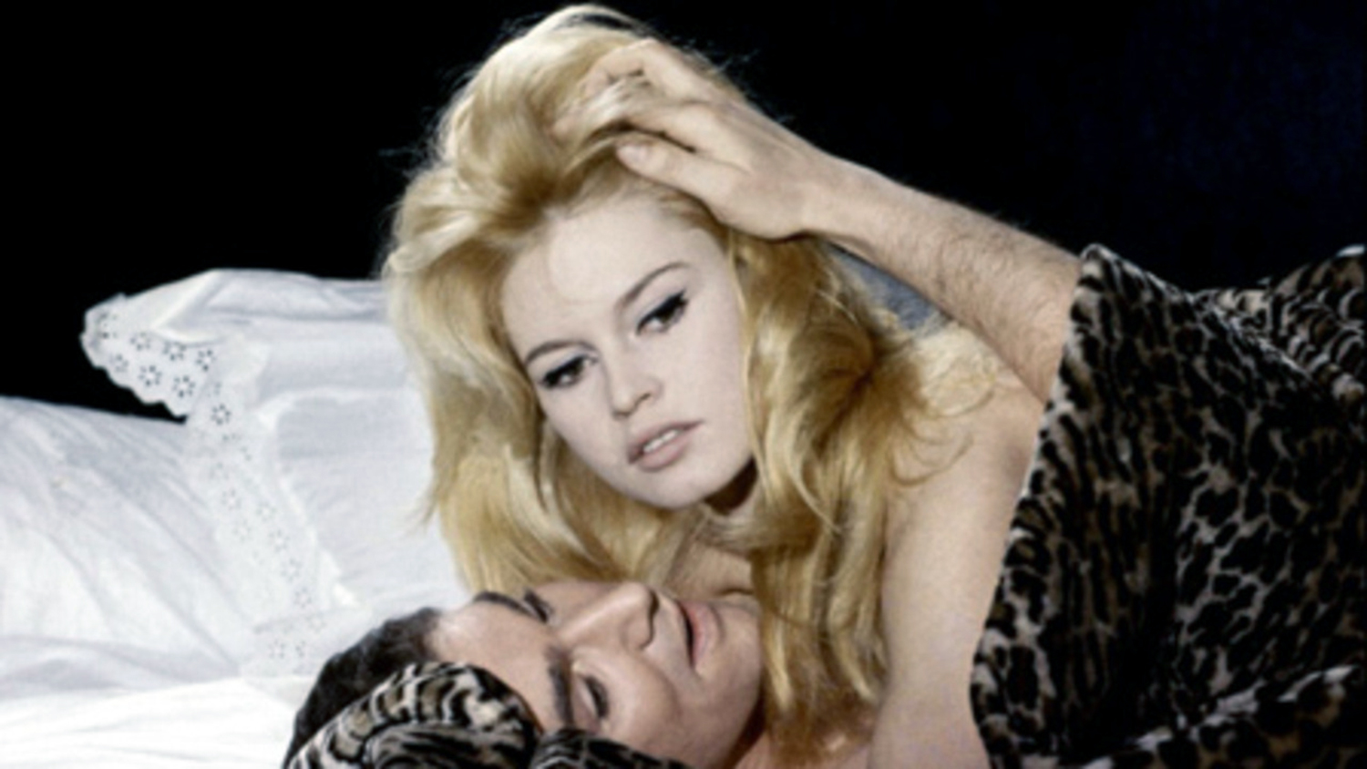 Erotic Foreign Films - Love on a Pillow, Brigitte Bardot in bed