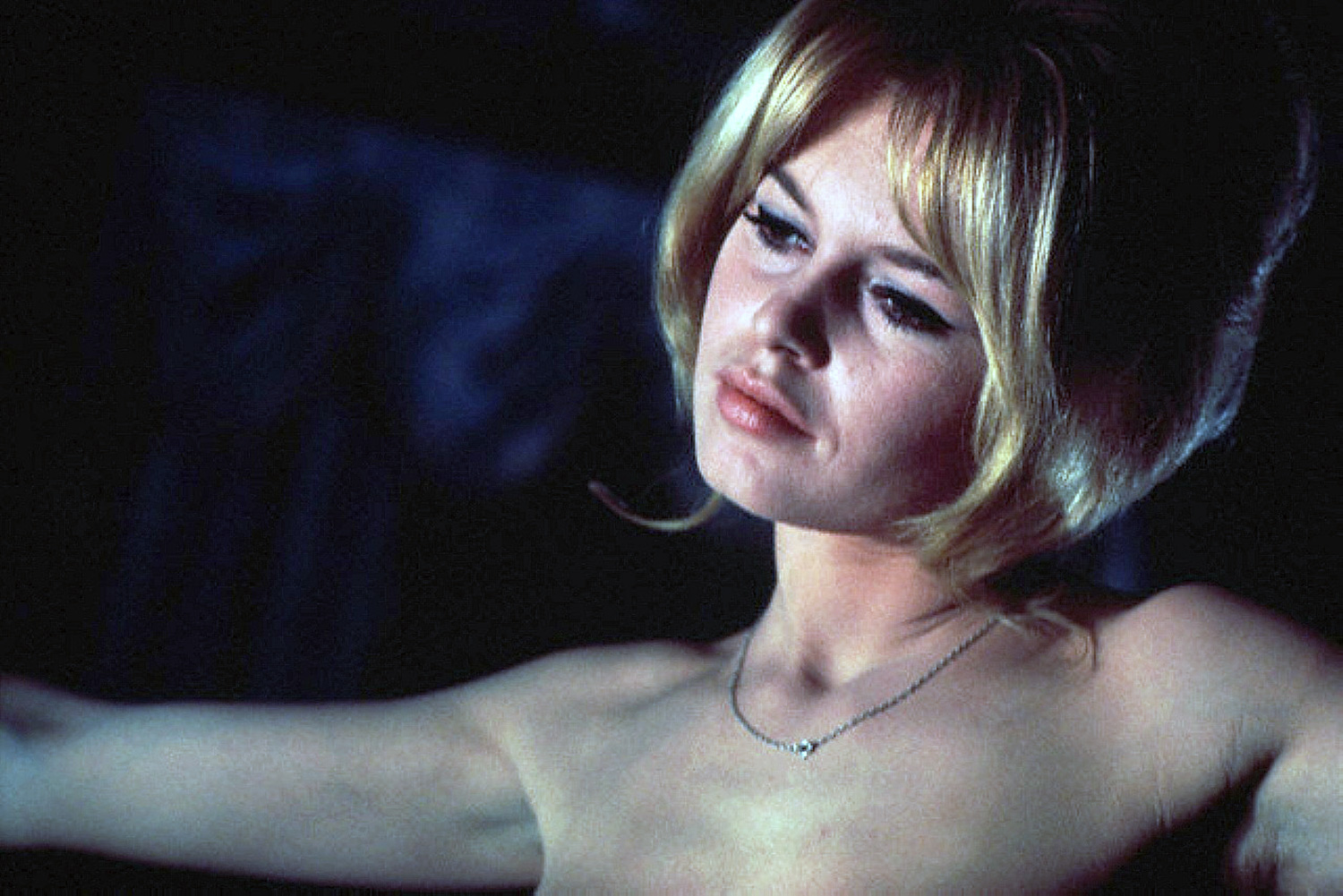 Erotic Foreign Films - Love on a Pillow, Brigitte Bardot, sensual pose