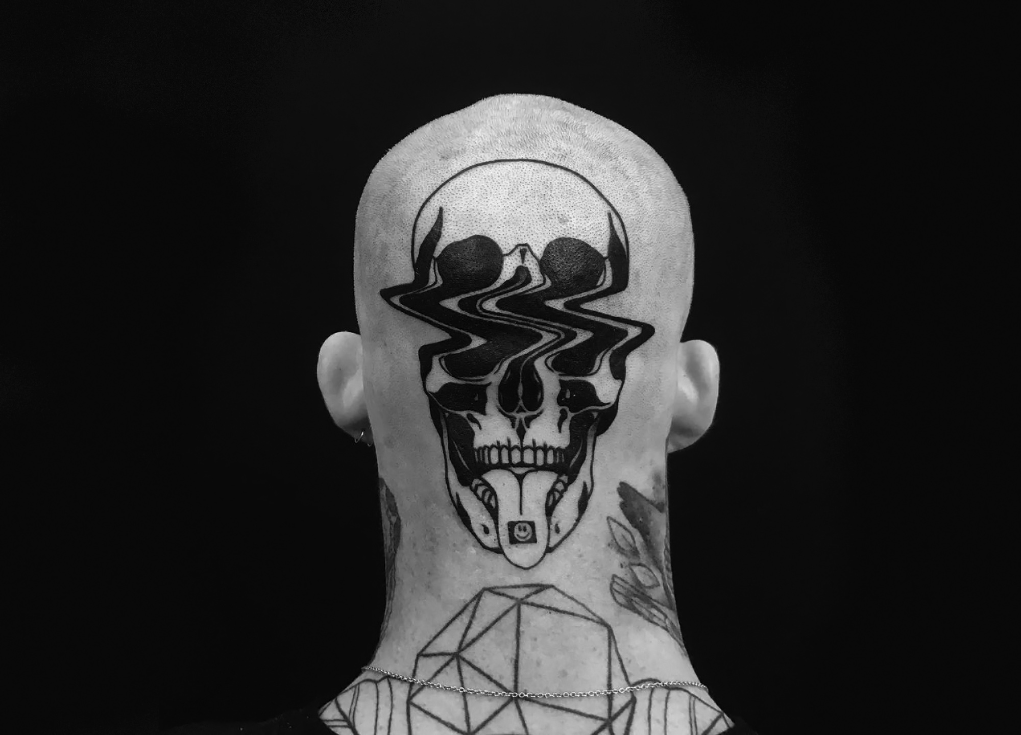 Louis Loveless tattoo glitch skull