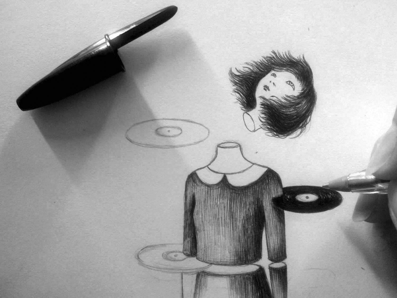 Virginia Mori - severed head illustration