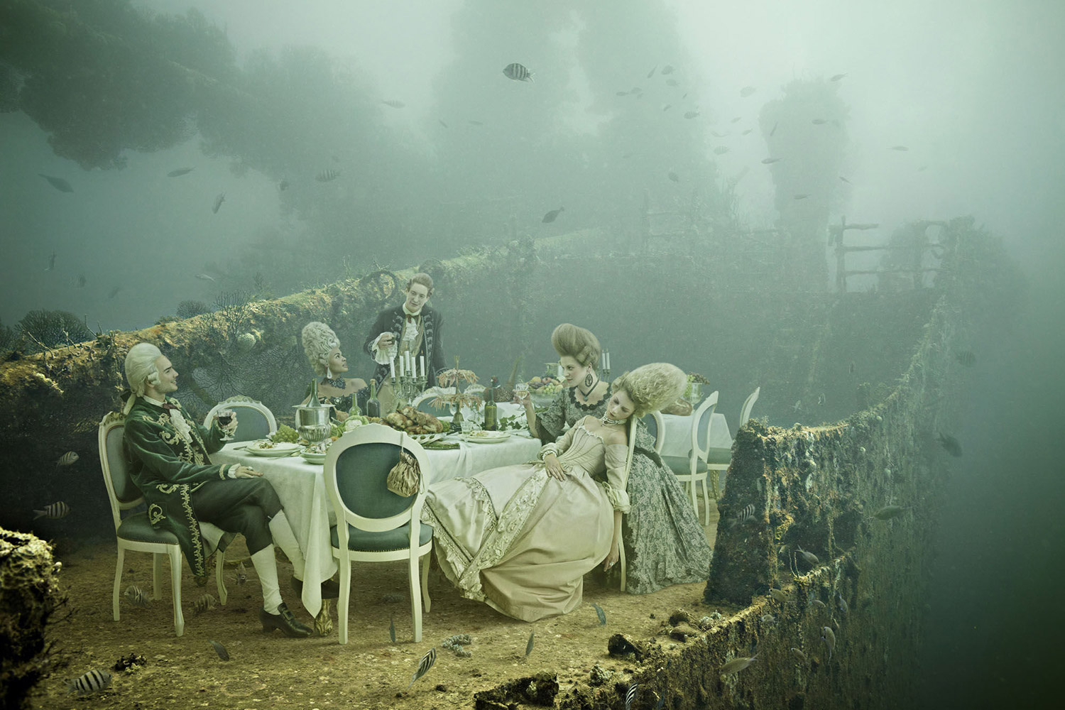 Andreas Franke - The Sinking World, dining room