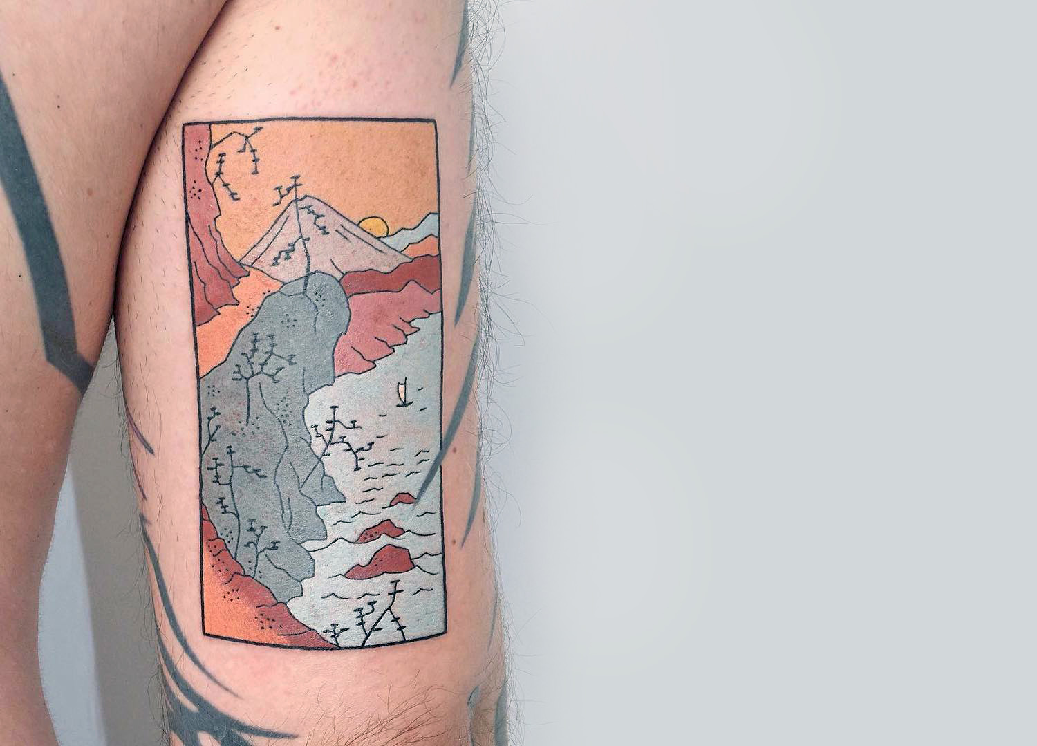 tattoo landscape