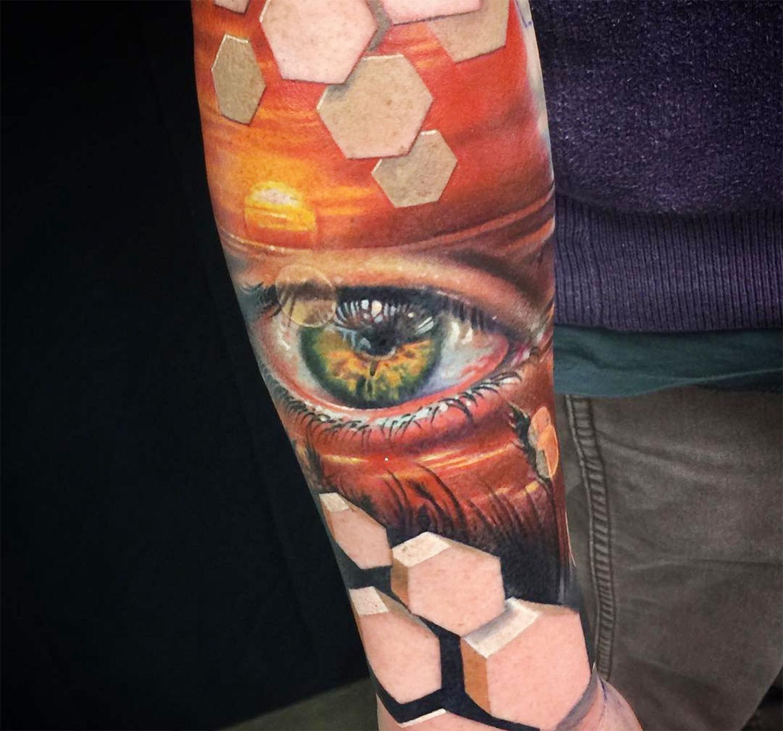 eye and skin, tattoo