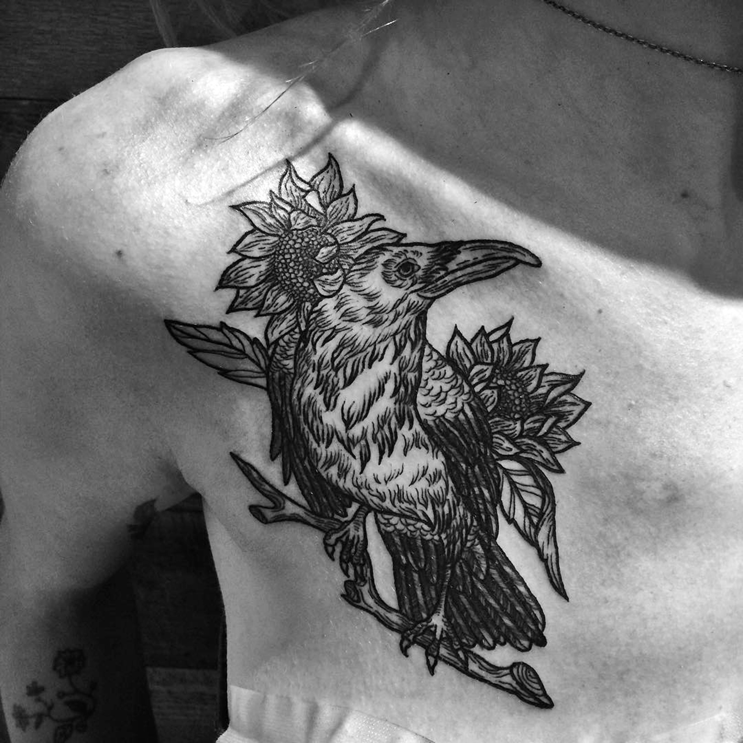 Meagan Blackwood, tattoo - bird