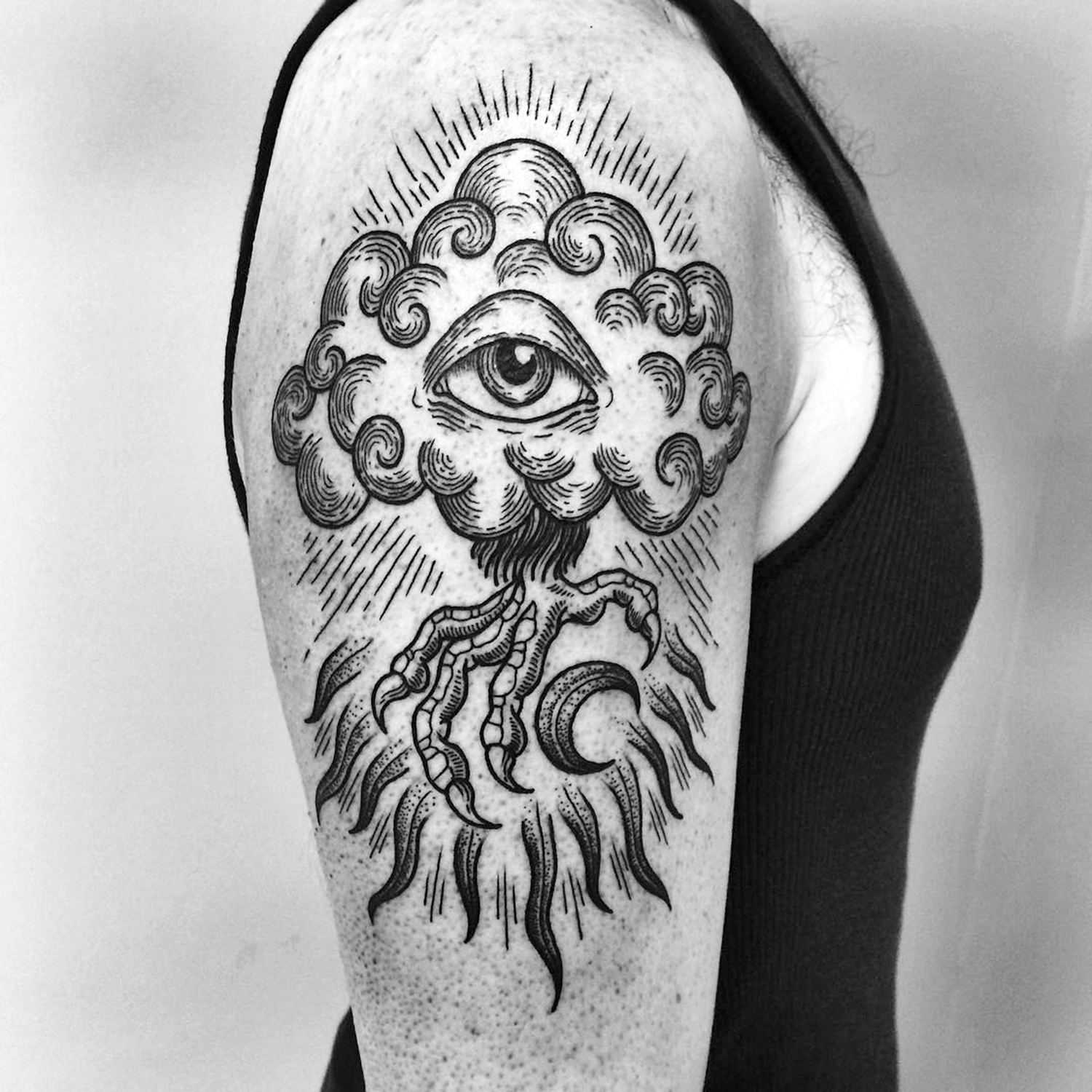 Meagan Blackwood, tattoo - eye tree