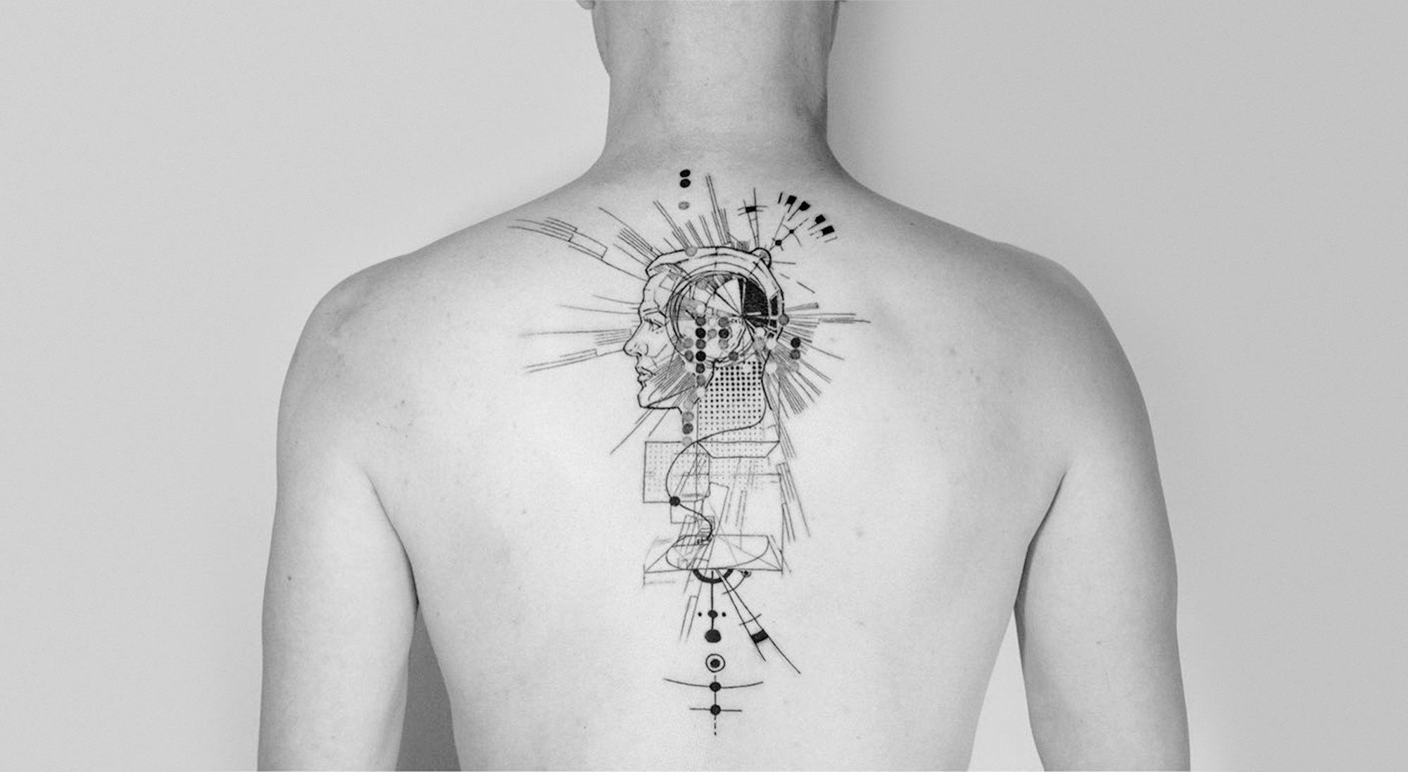 fracture geometric tattoo by Mowgli