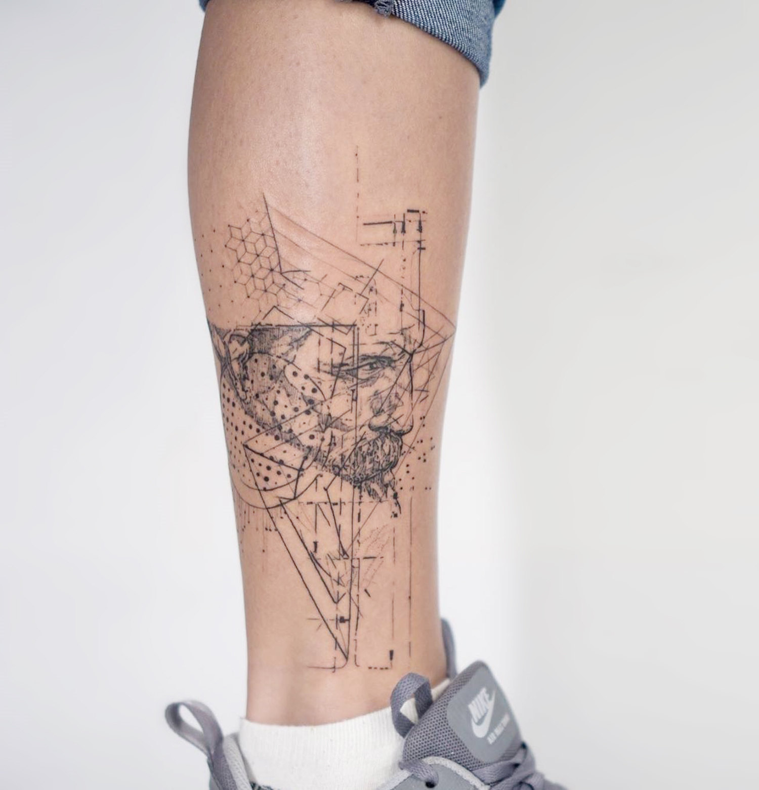 science, nature, portrait tattoo