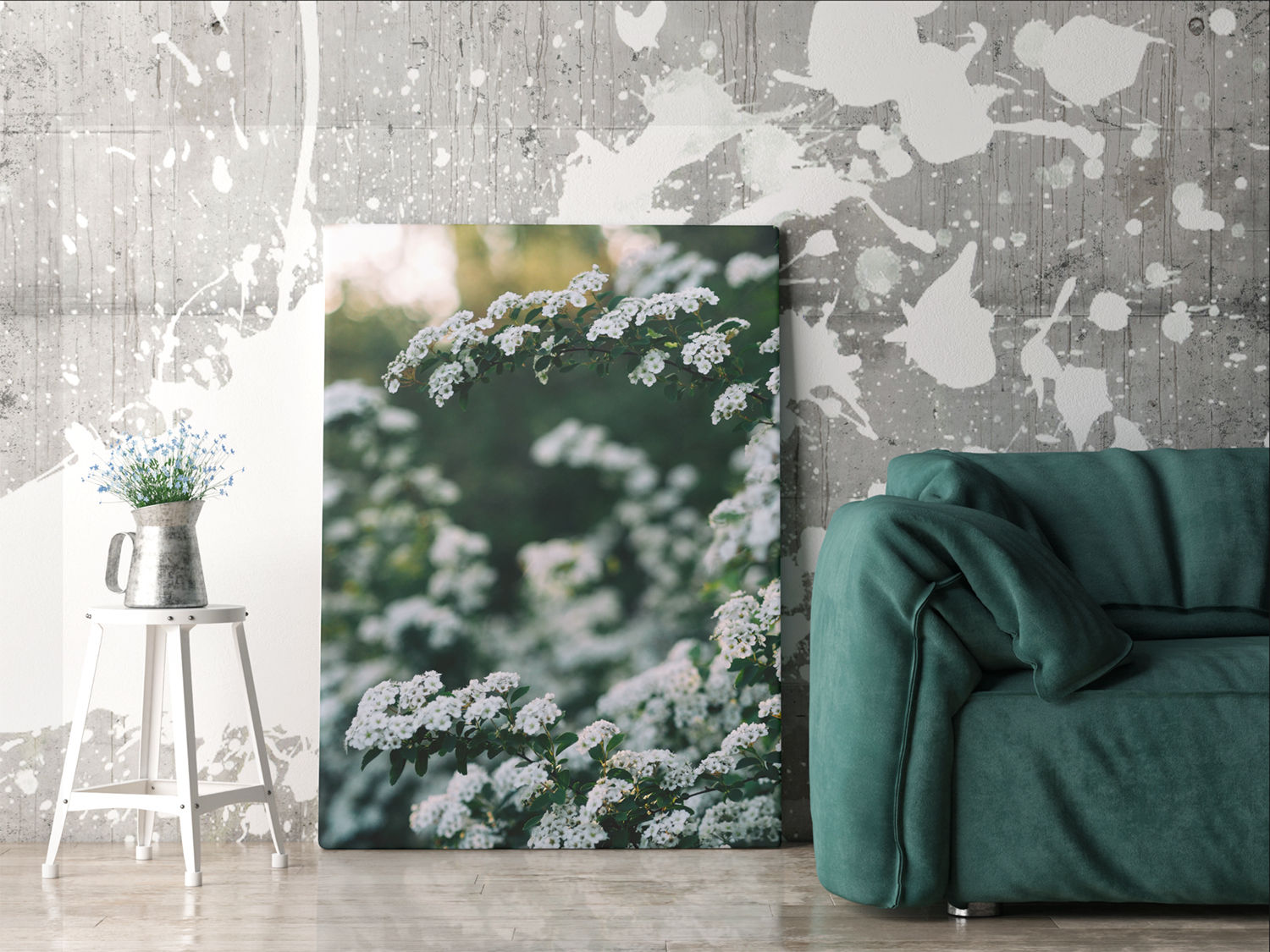 floral print on canvas print