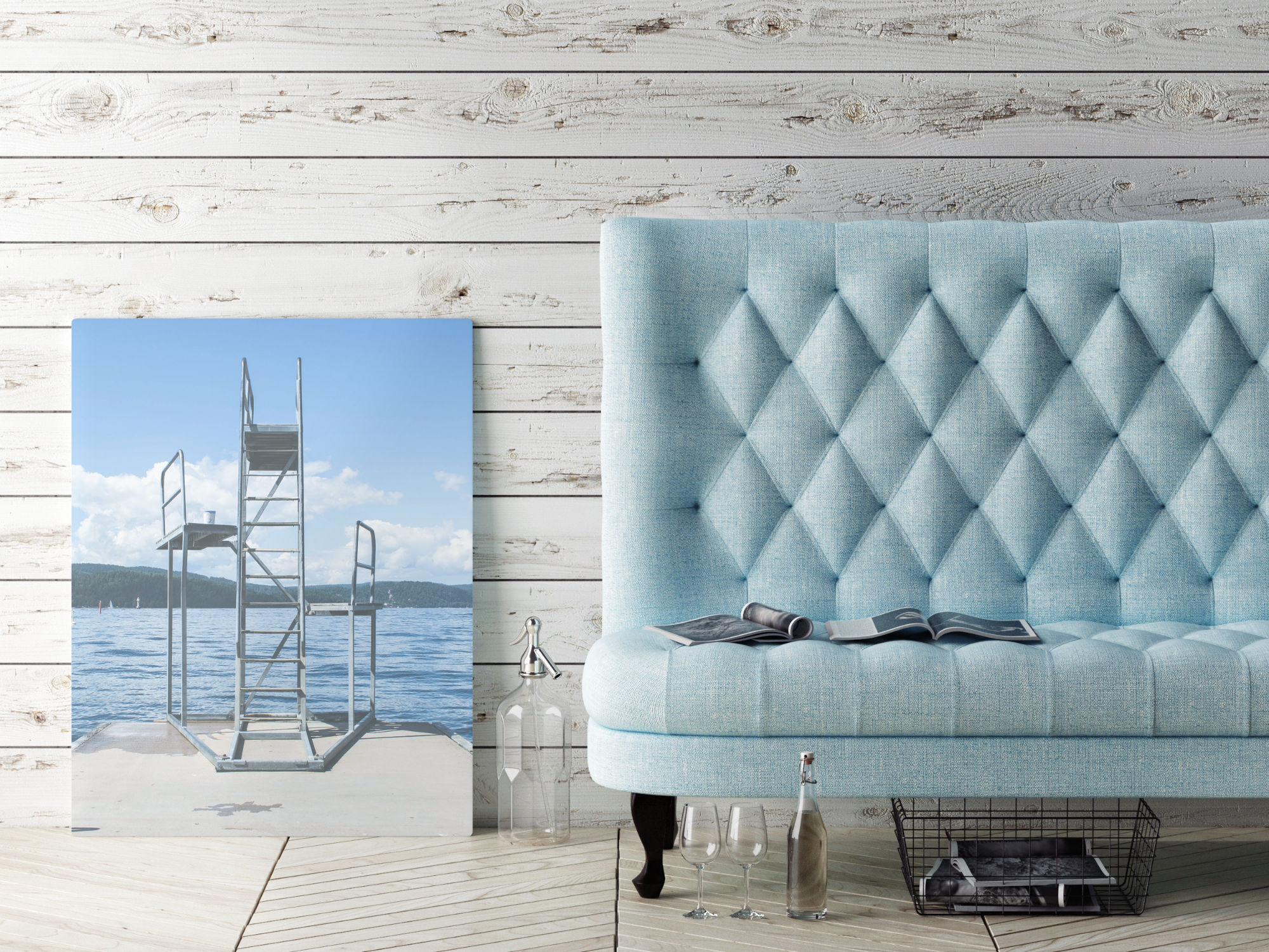 beach scene on canvas print